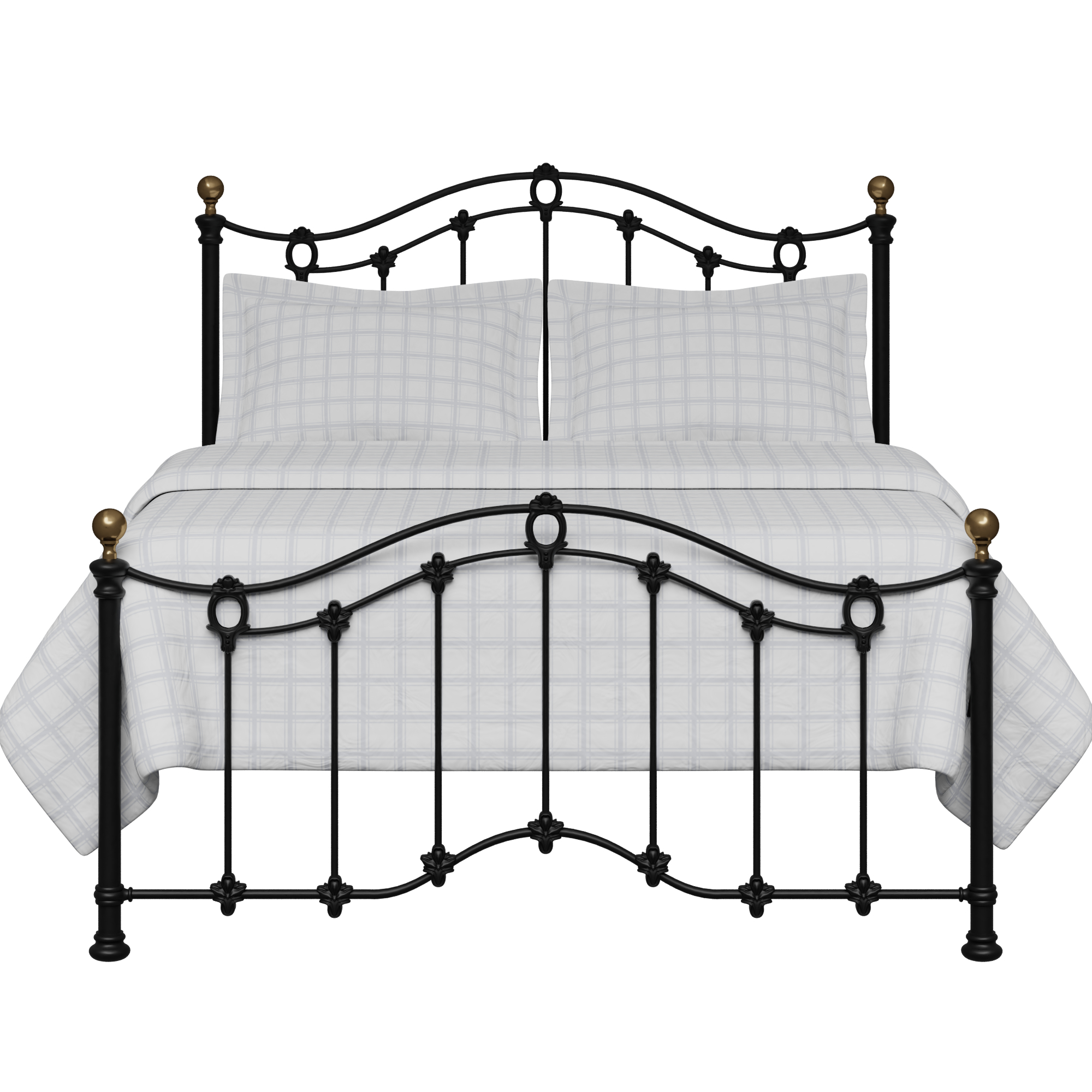 Clarina Low Footend iron/metal bed in black