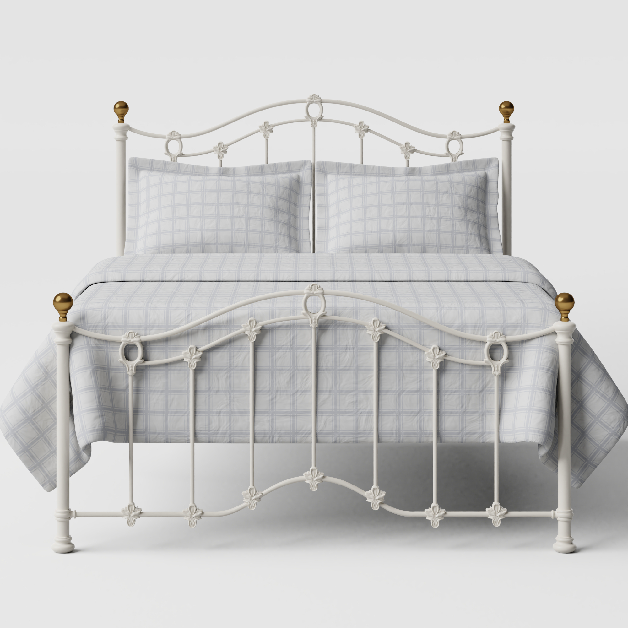 Clarina Low Footend iron/metal bed in ivory