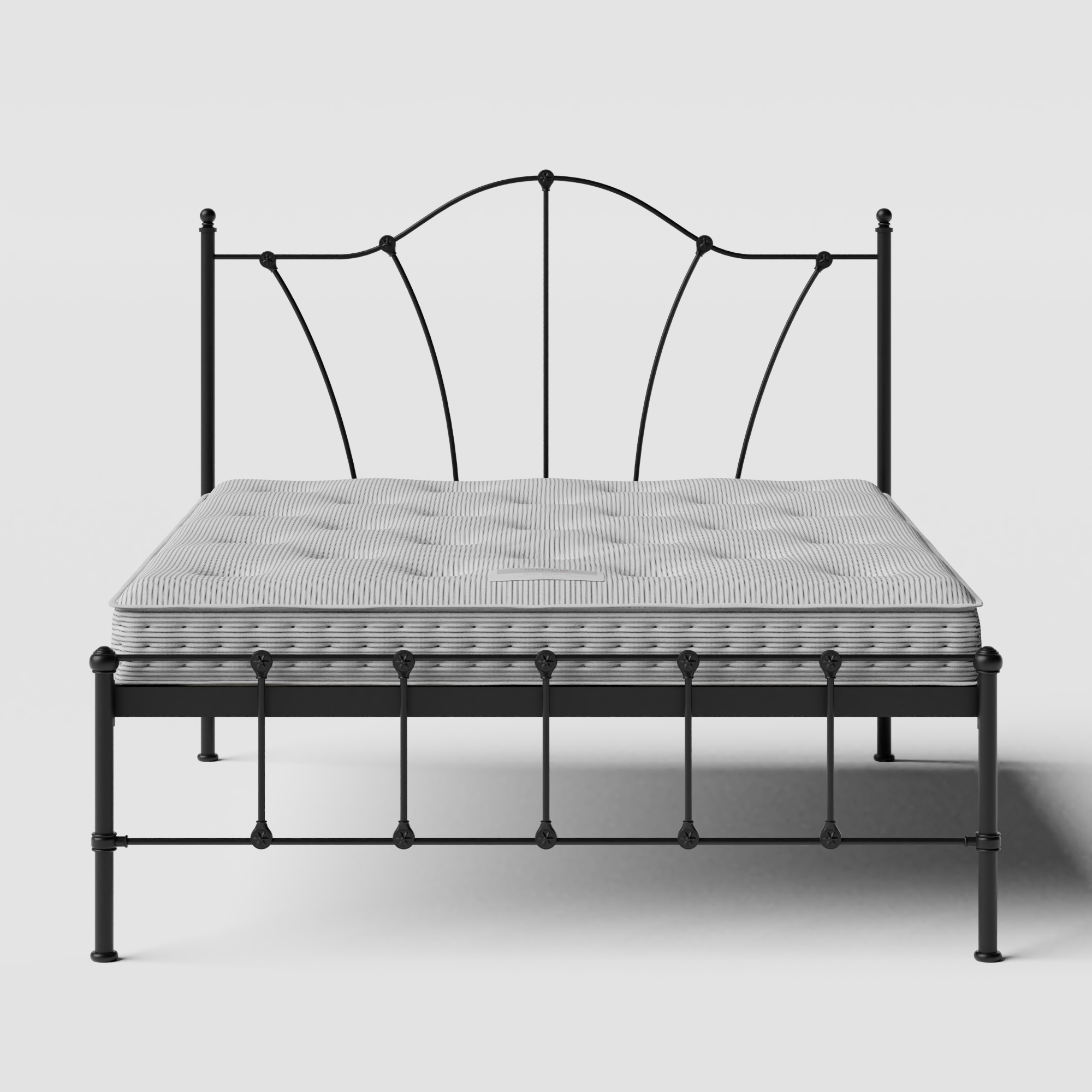 Claudia iron/metal bed in black with Juno mattress
