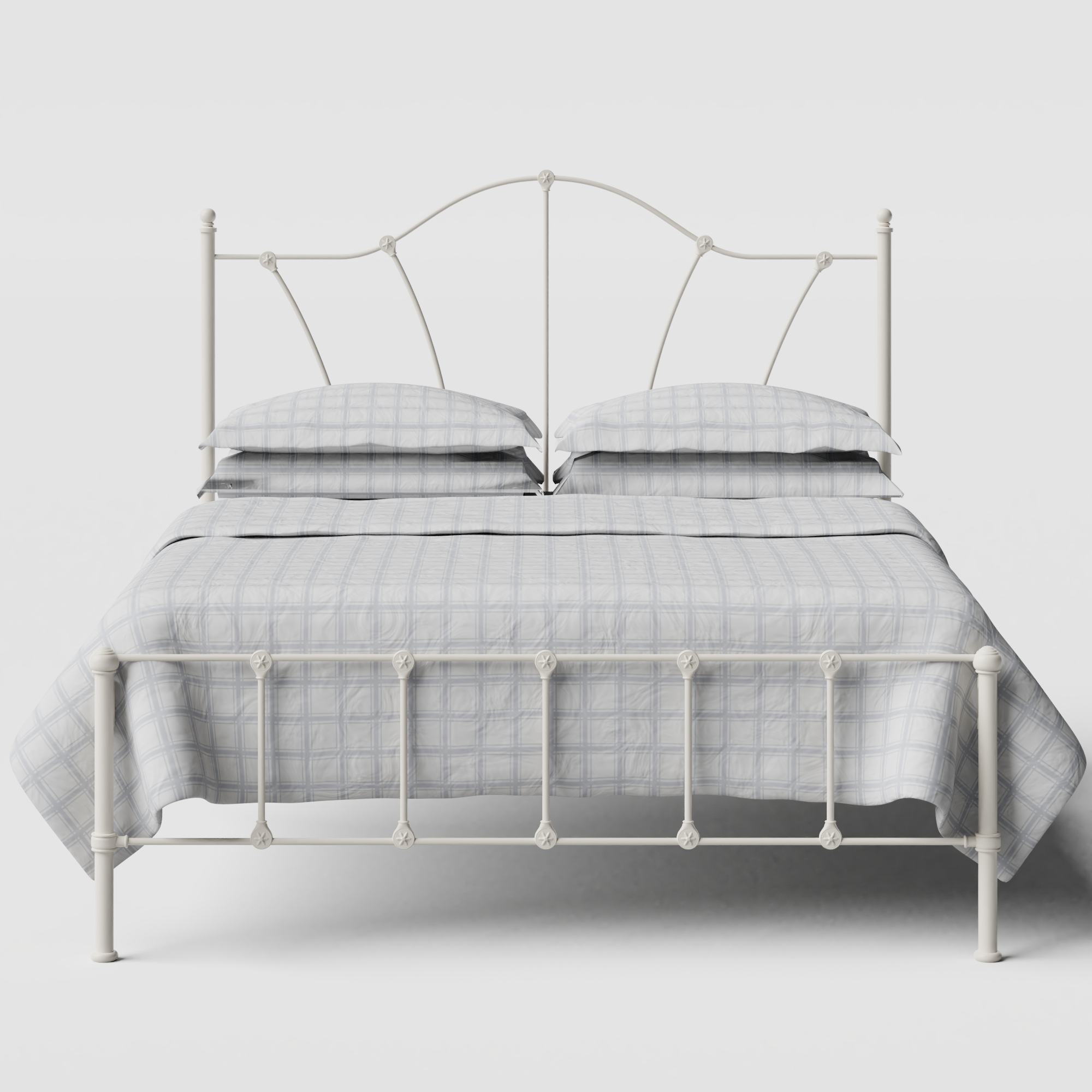 Claudia iron/metal bed in ivory