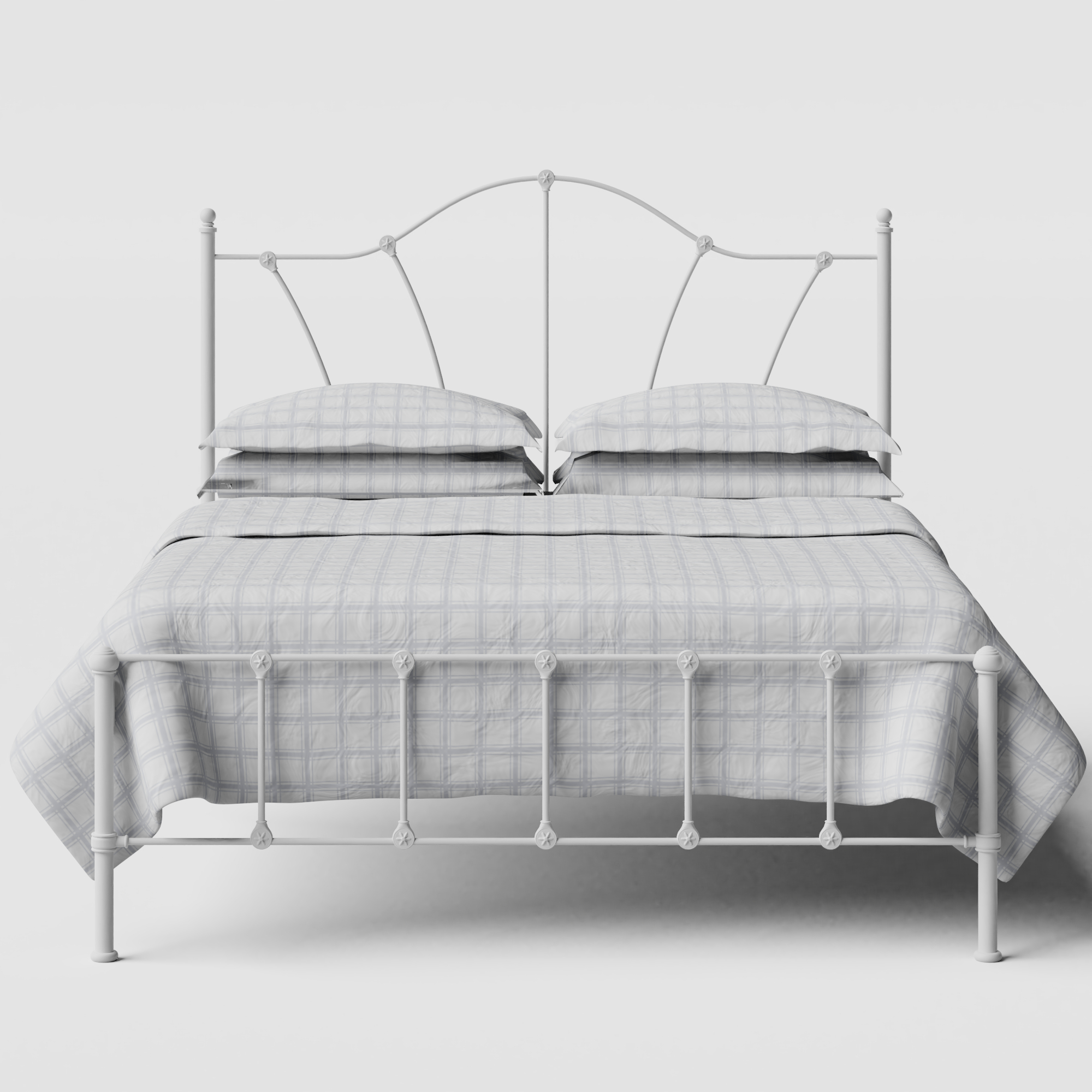 Claudia iron/metal bed in white
