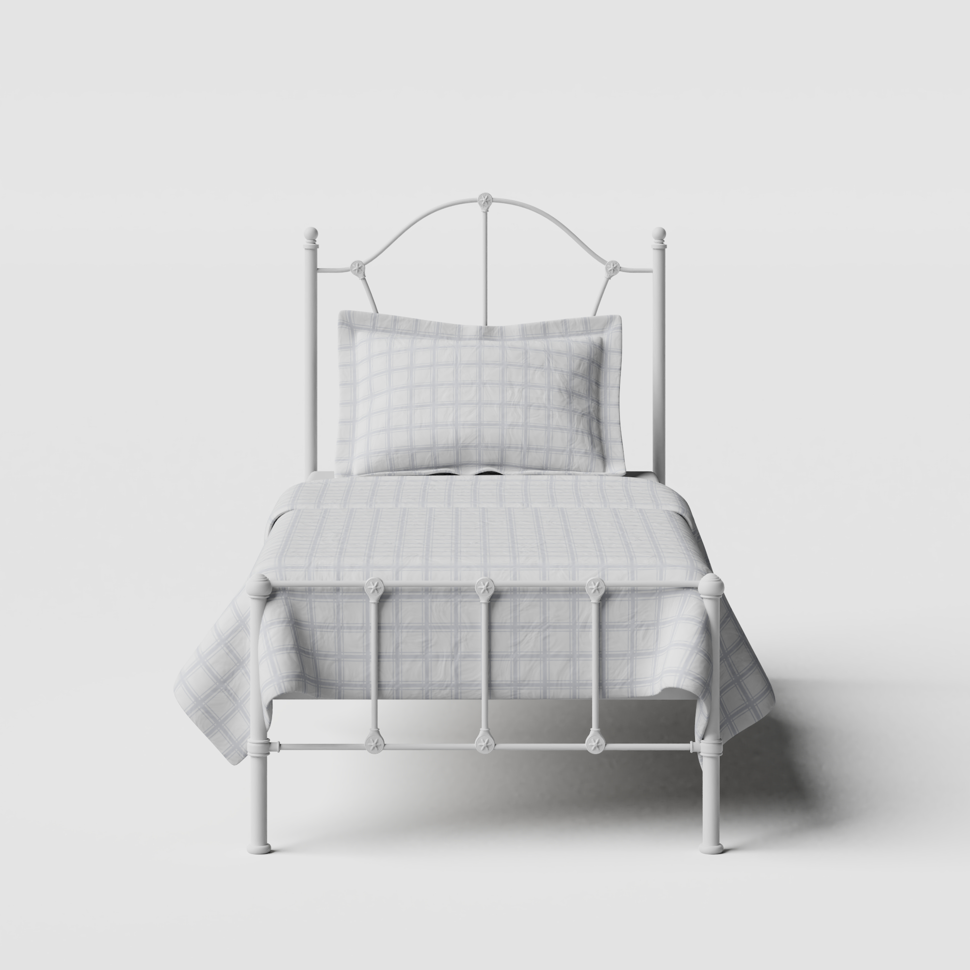 Claudia iron/metal single bed in white