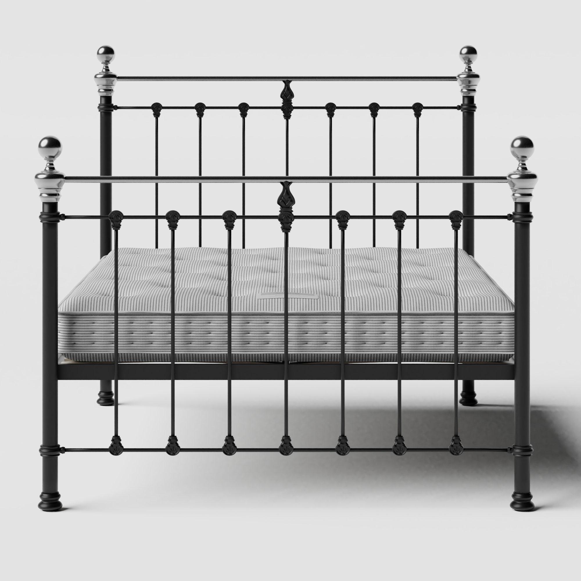 Hamilton Chromo iron/metal bed in black with Juno mattress