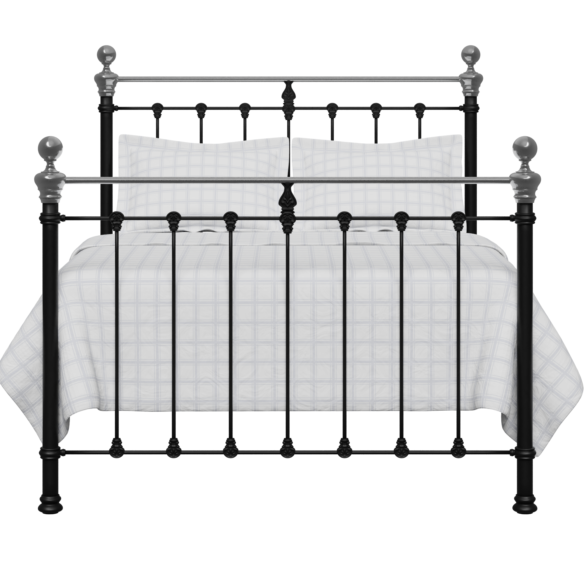 Hamilton Chromo iron/metal bed in black
