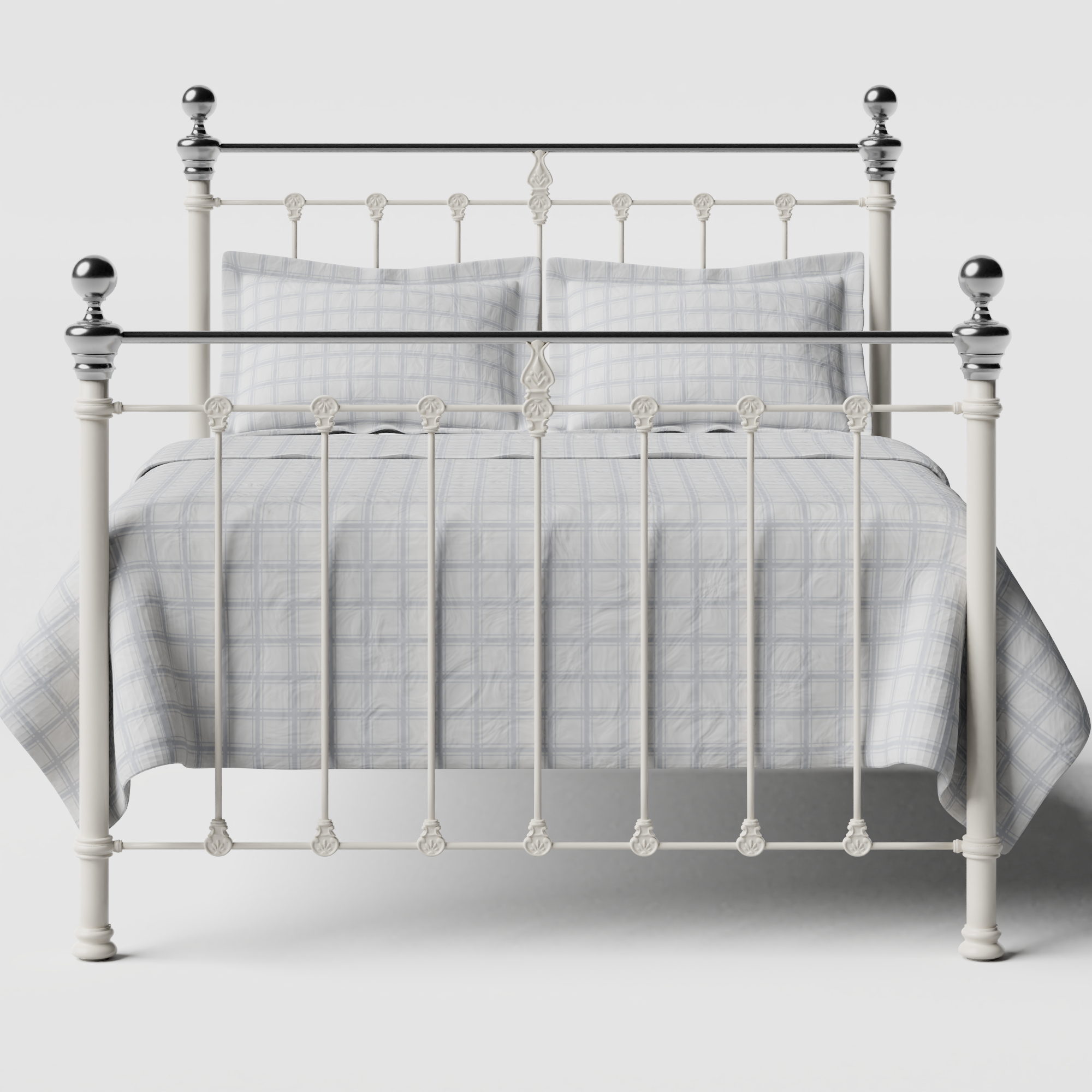 Hamilton Chromo iron/metal bed in ivory