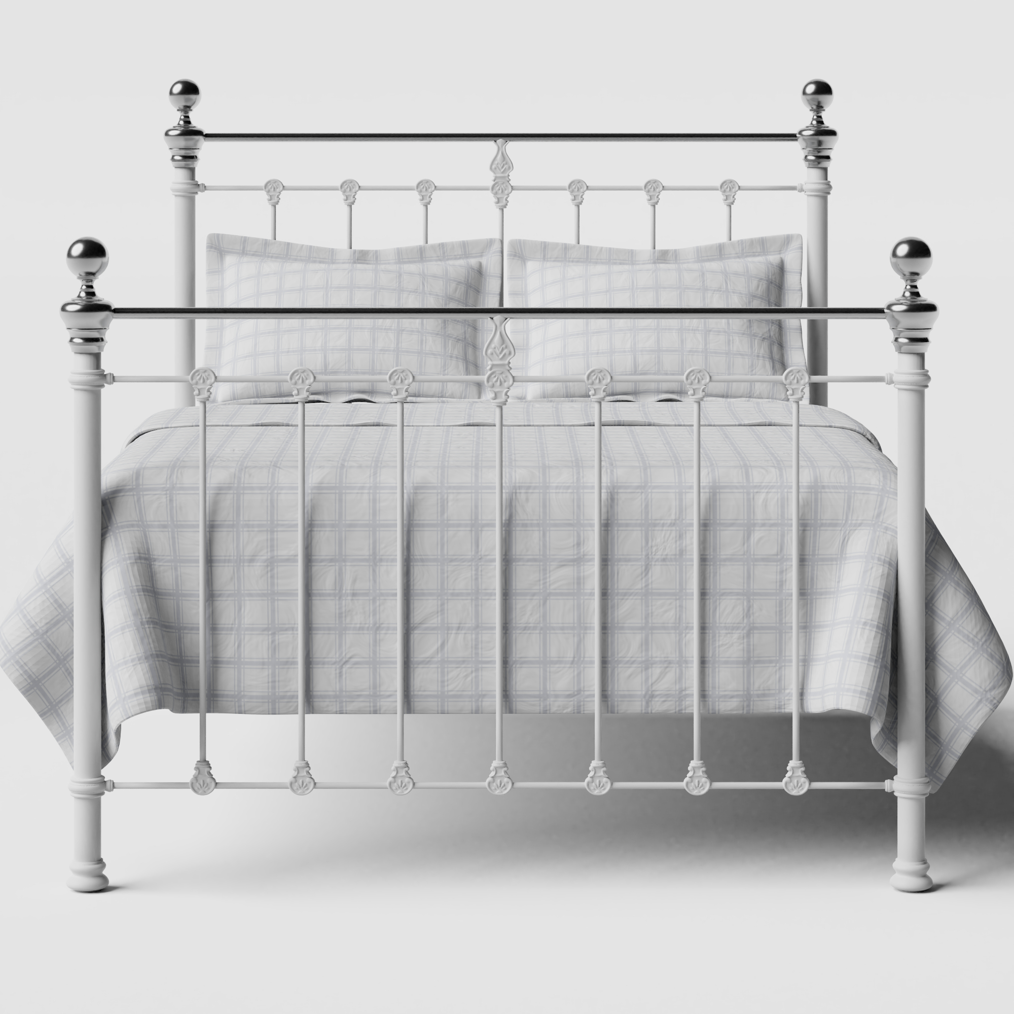 Hamilton Chromo iron/metal bed in white