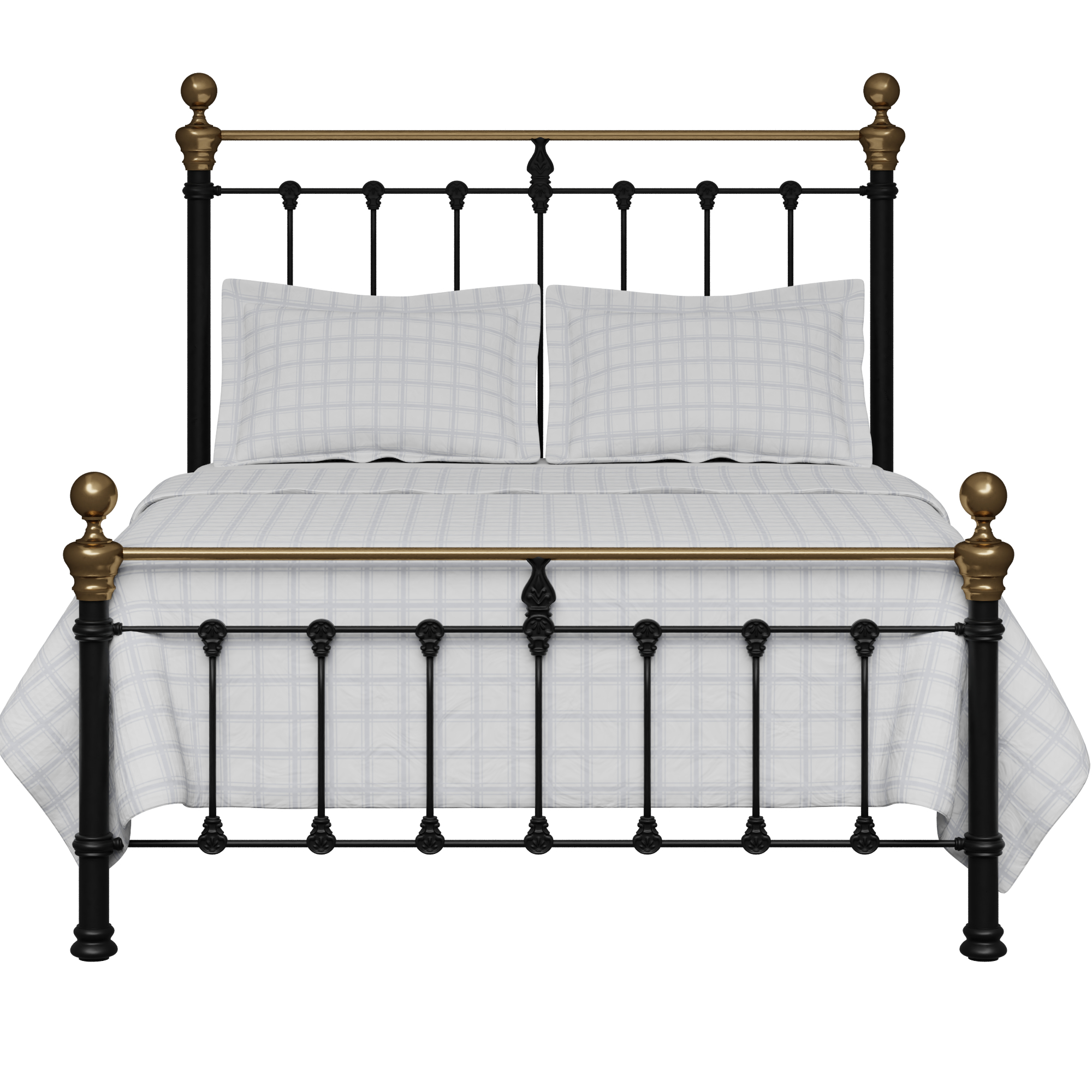Hamilton Low Footend Iron Metal Bed Frame With Brass Original Bed Co Uk