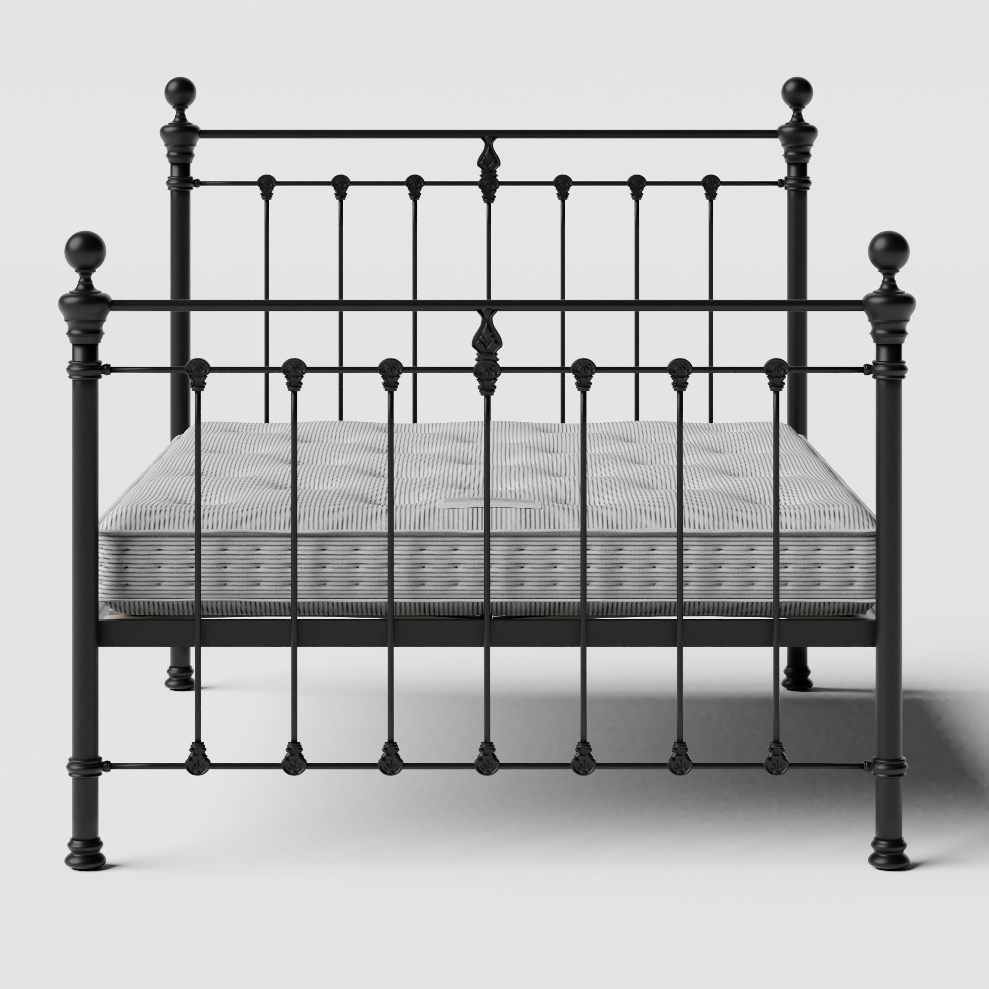Hamilton Solo iron/metal bed in black with Juno mattress