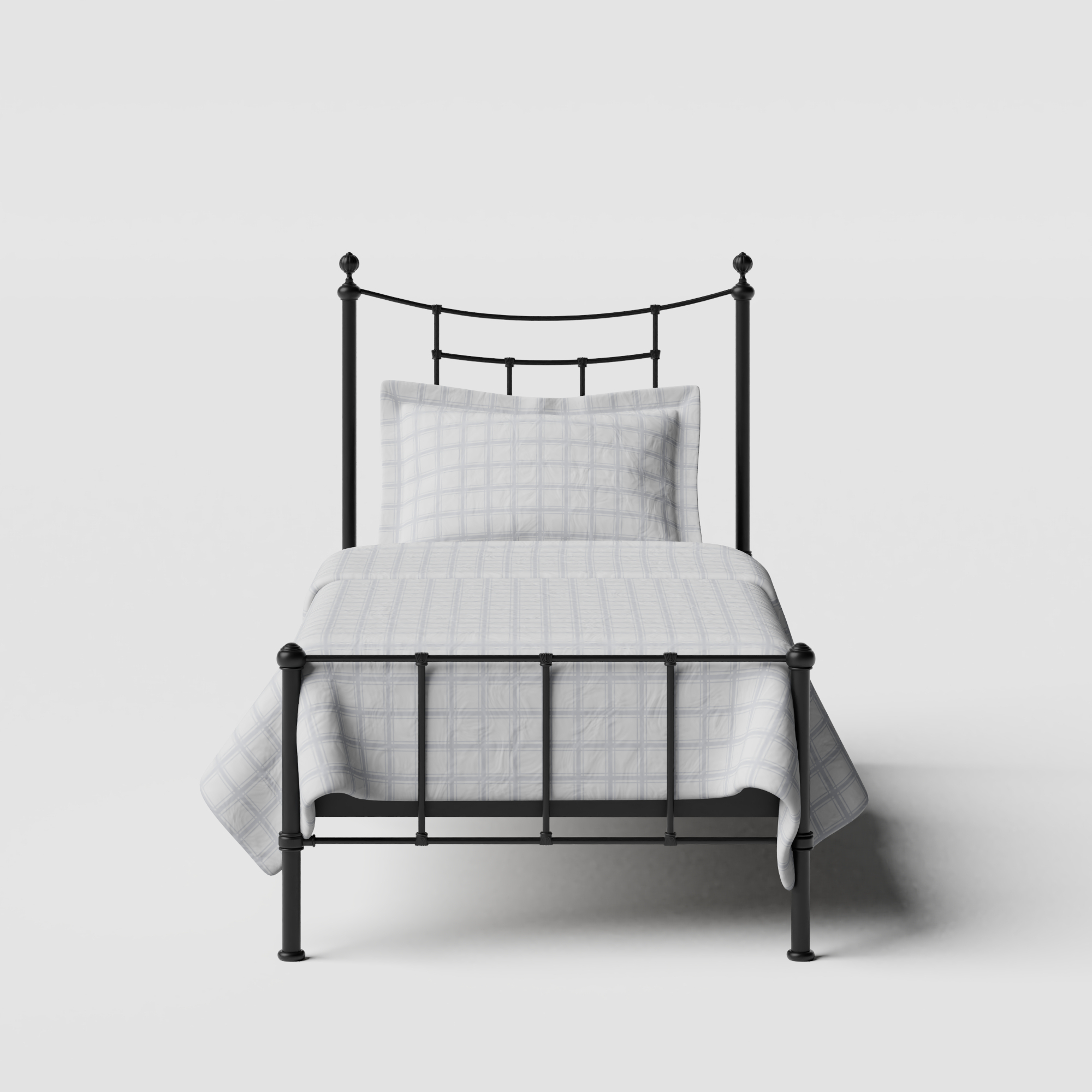 Isabelle iron/metal single bed in black