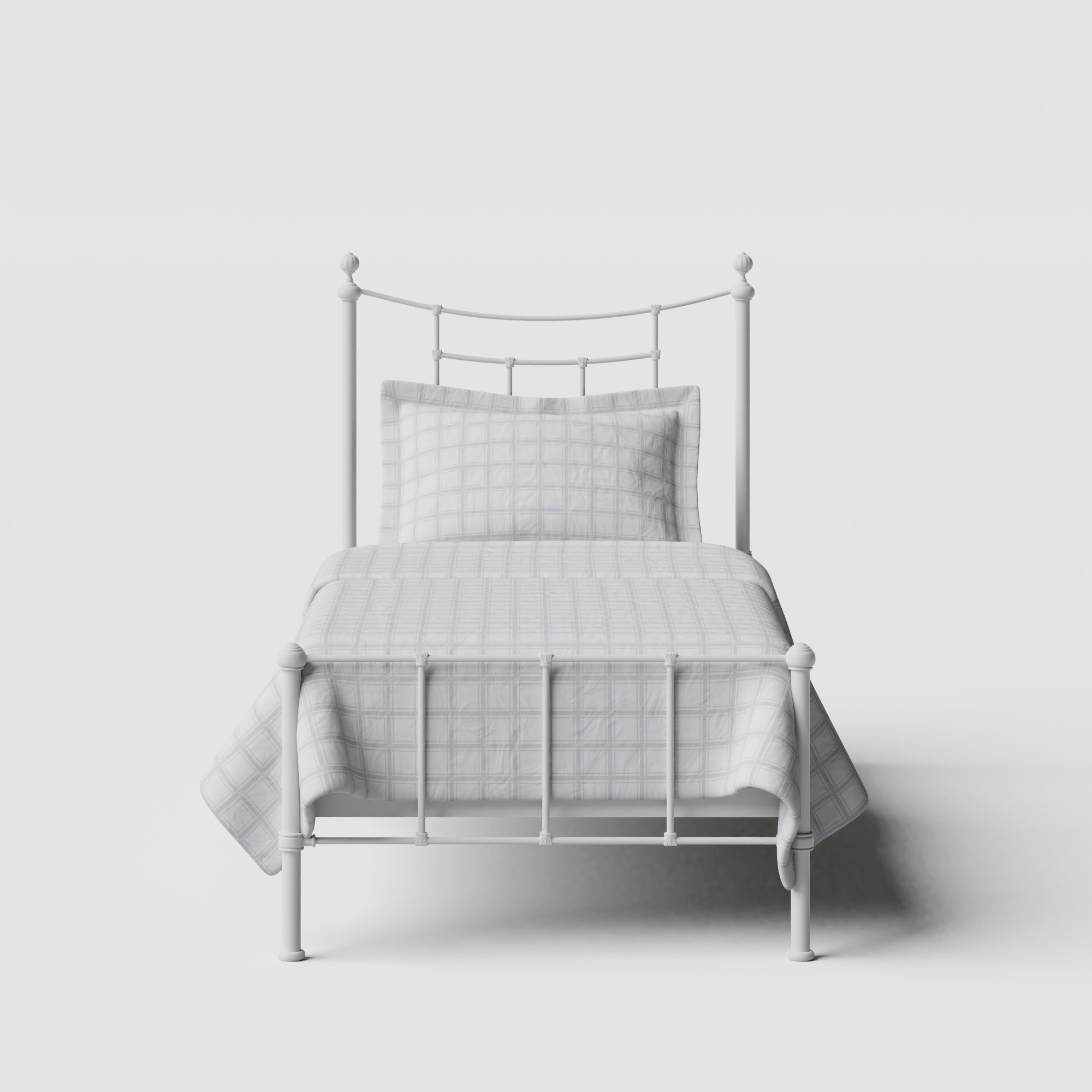 Isabelle iron/metal single bed in white