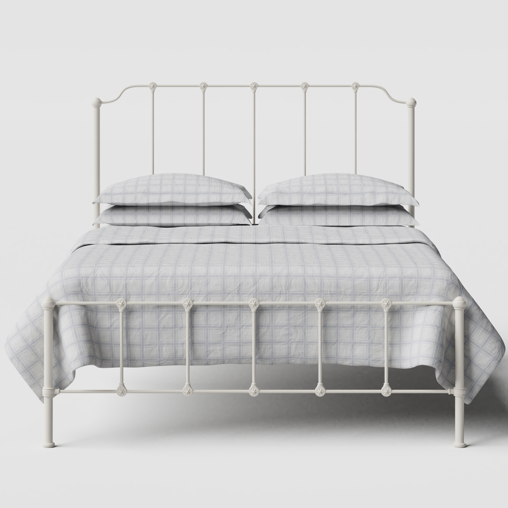 Julia iron/metal bed in ivory