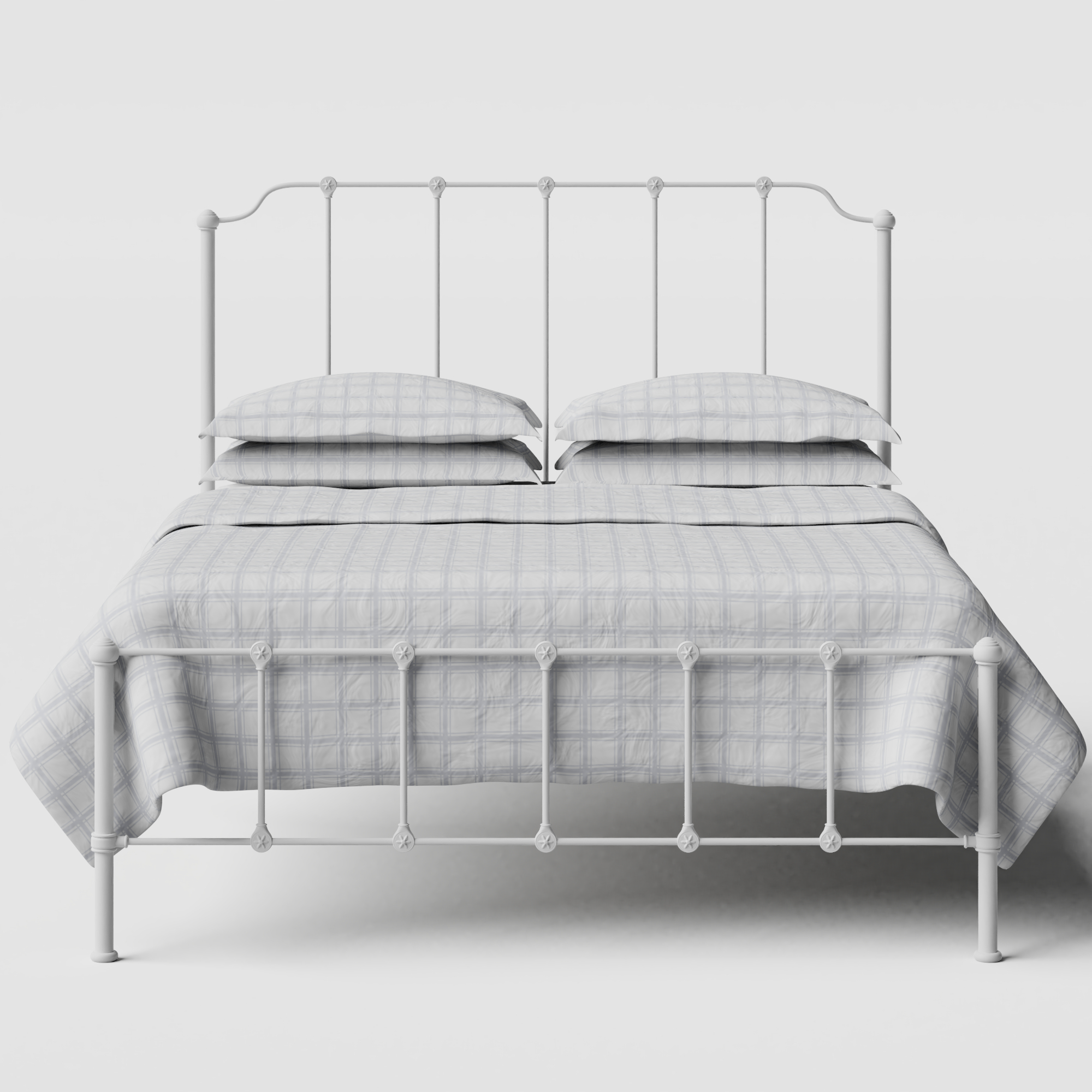 Julia iron/metal bed in white