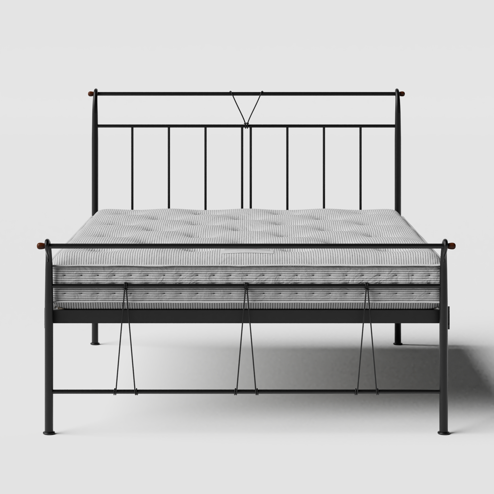 Pellini iron/metal bed in black with Juno mattress