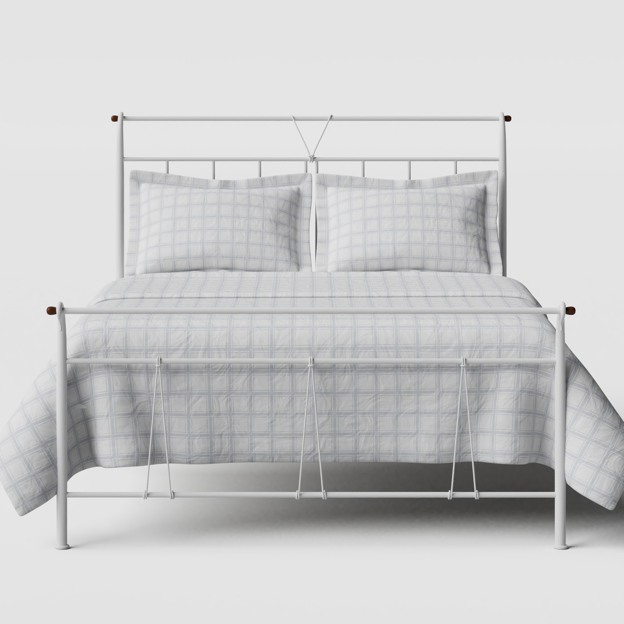 Pellini iron/metal bed in white