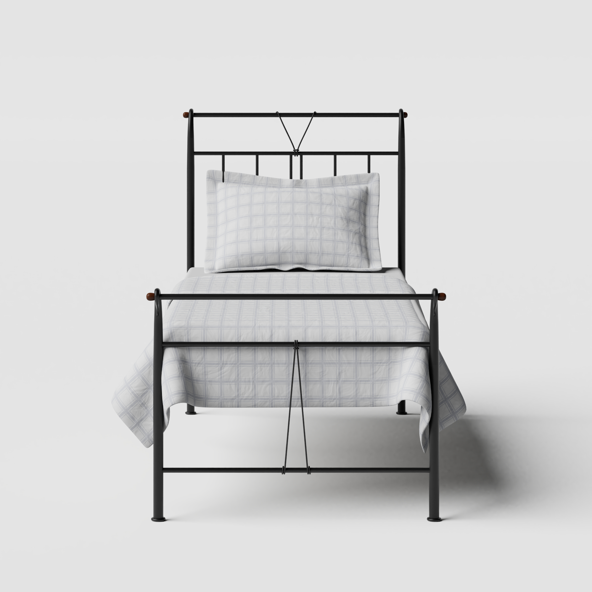 Pellini iron/metal single bed in black