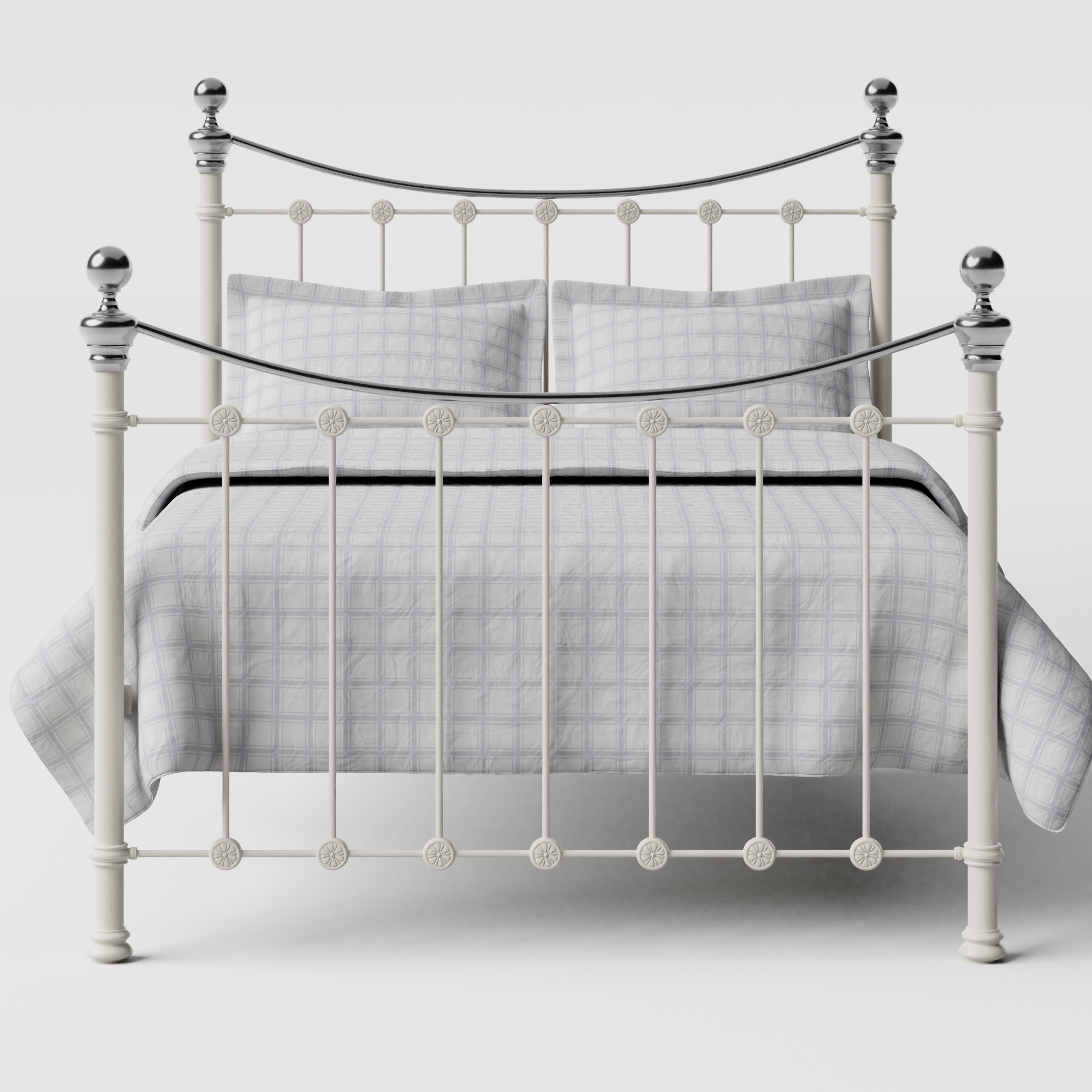 Selkirk Chromo iron/metal bed in ivory