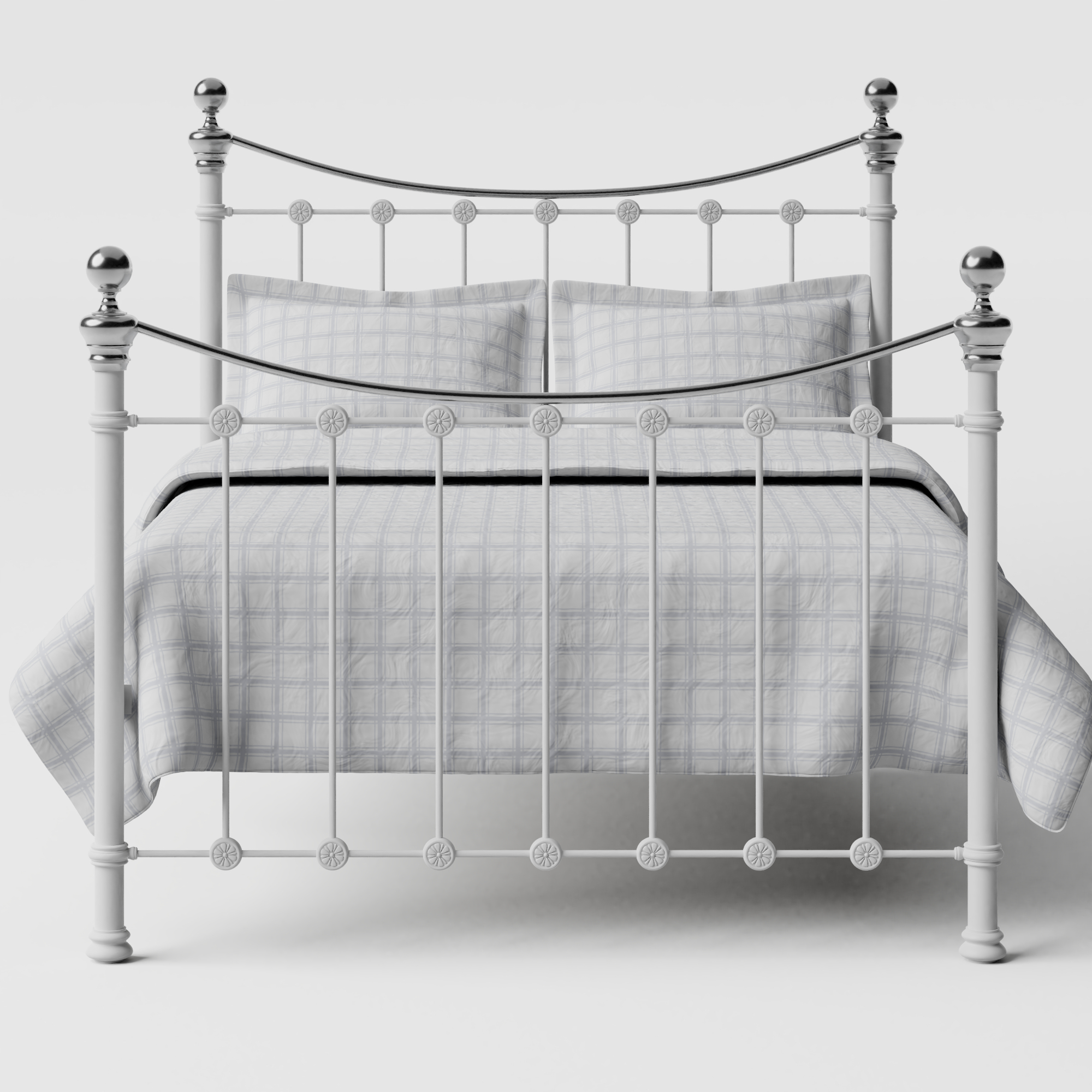 Selkirk Chromo iron/metal bed in white