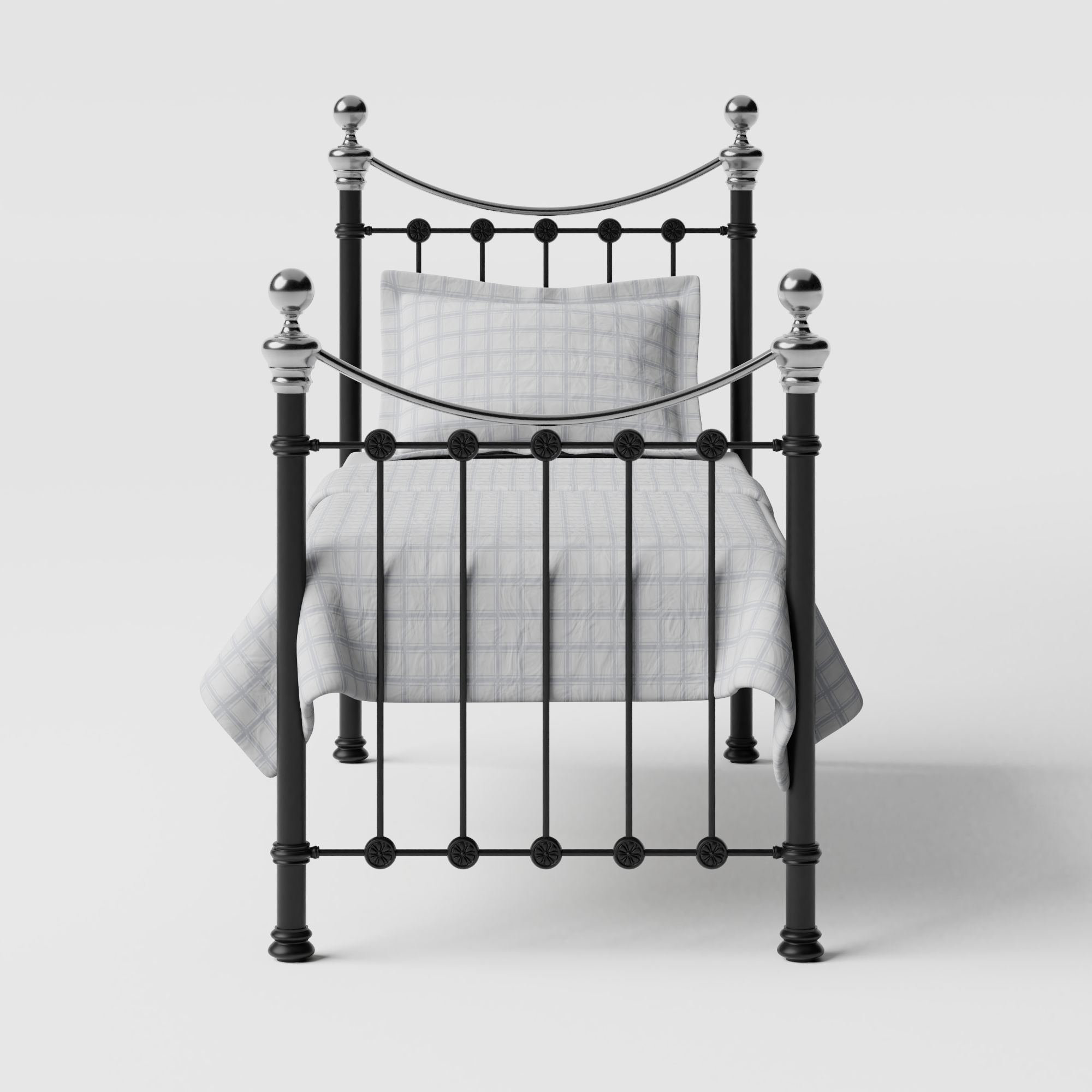 Selkirk Chromo iron/metal single bed in black