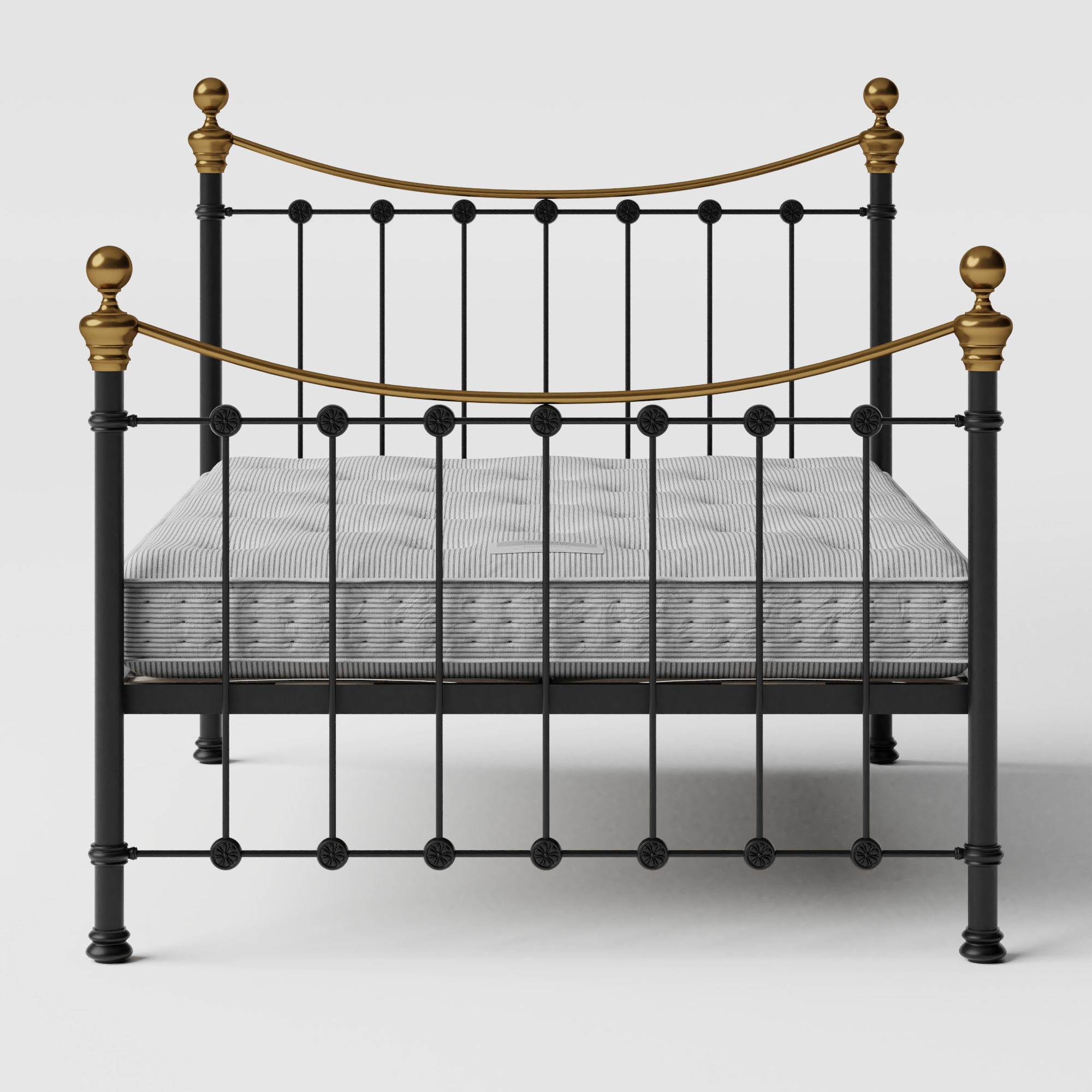 Selkirk iron/metal bed in black with Juno mattress