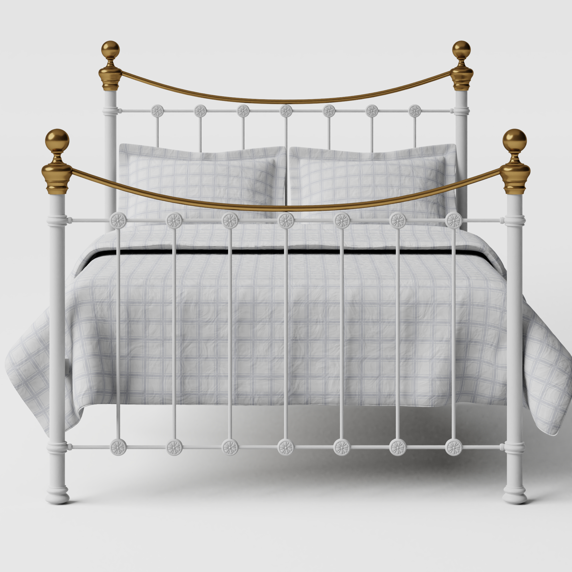 Selkirk iron/metal bed in white
