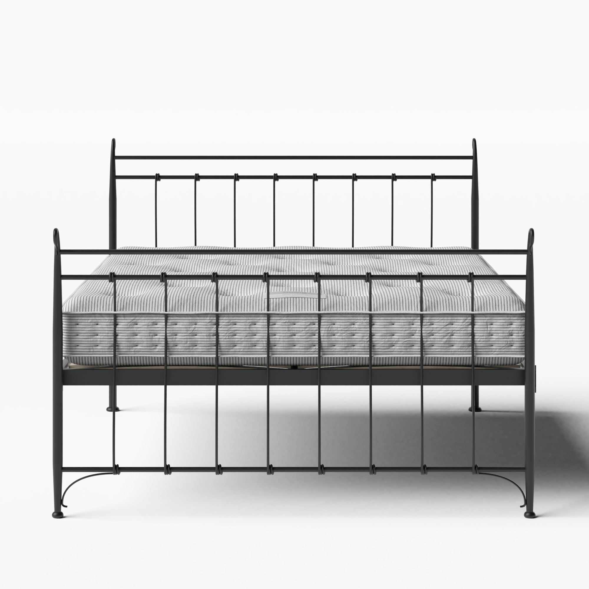 Tiffany iron/metal bed in black with Juno mattress