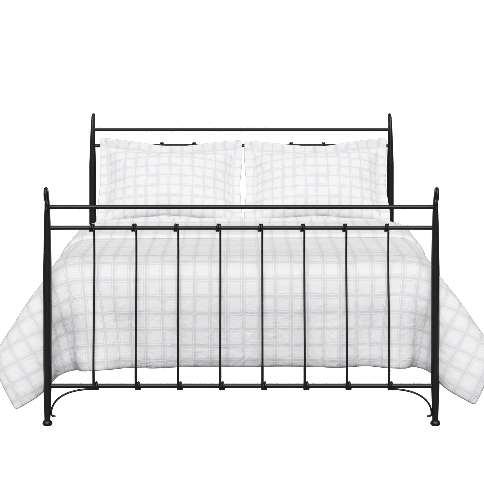 Tiffany iron/metal bed in black