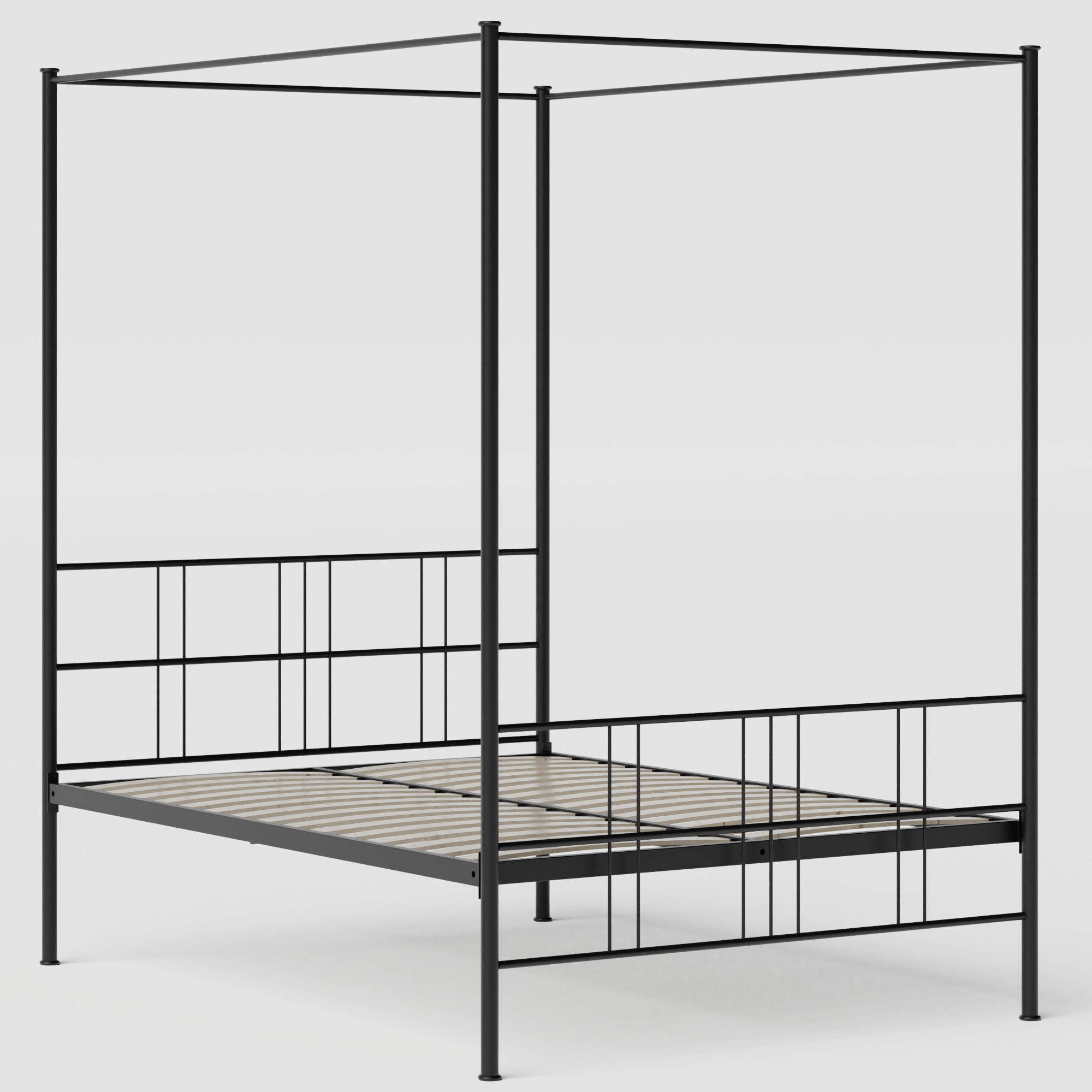 Toulon ijzeren bed in zwart