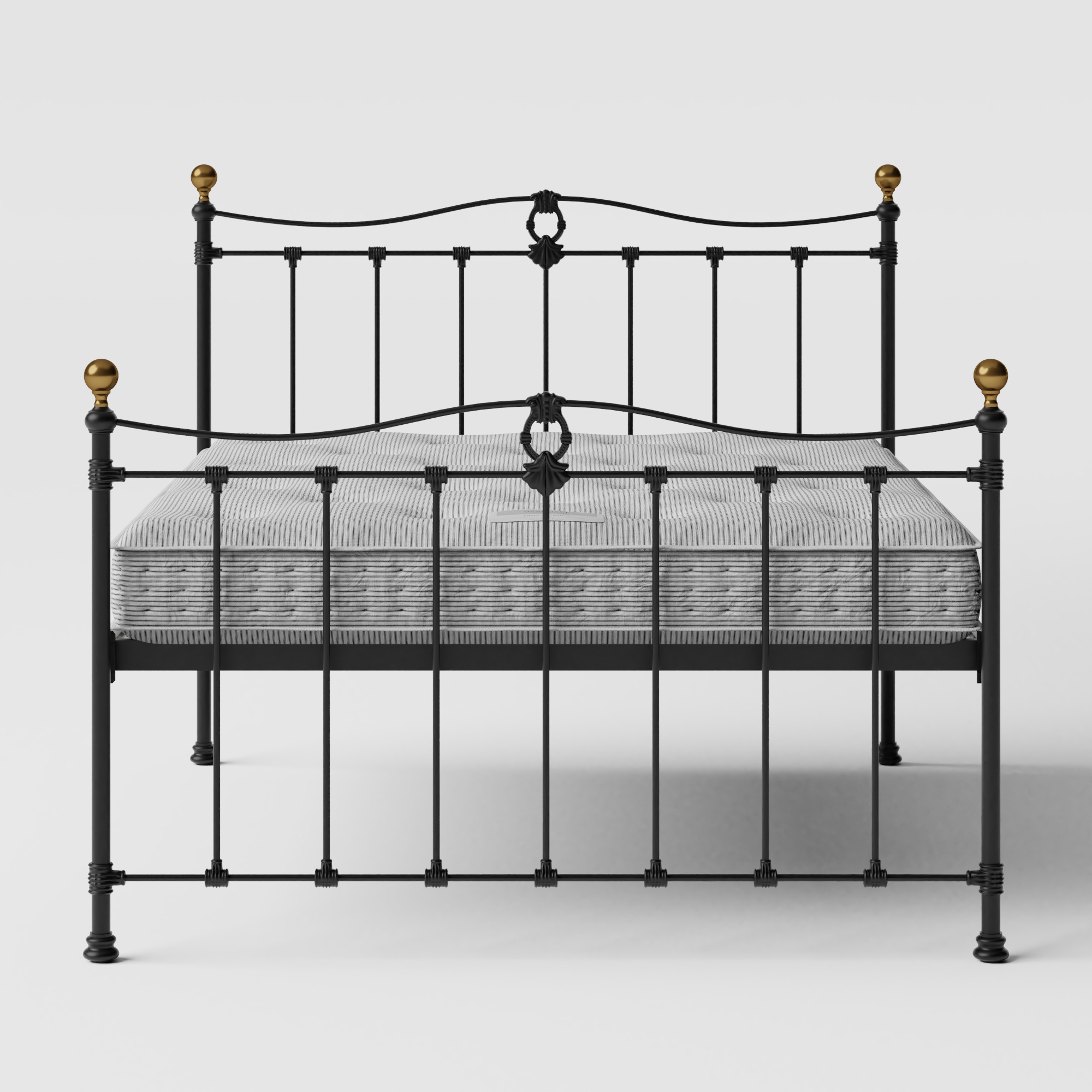 Tulsk iron/metal bed in black with Juno mattress