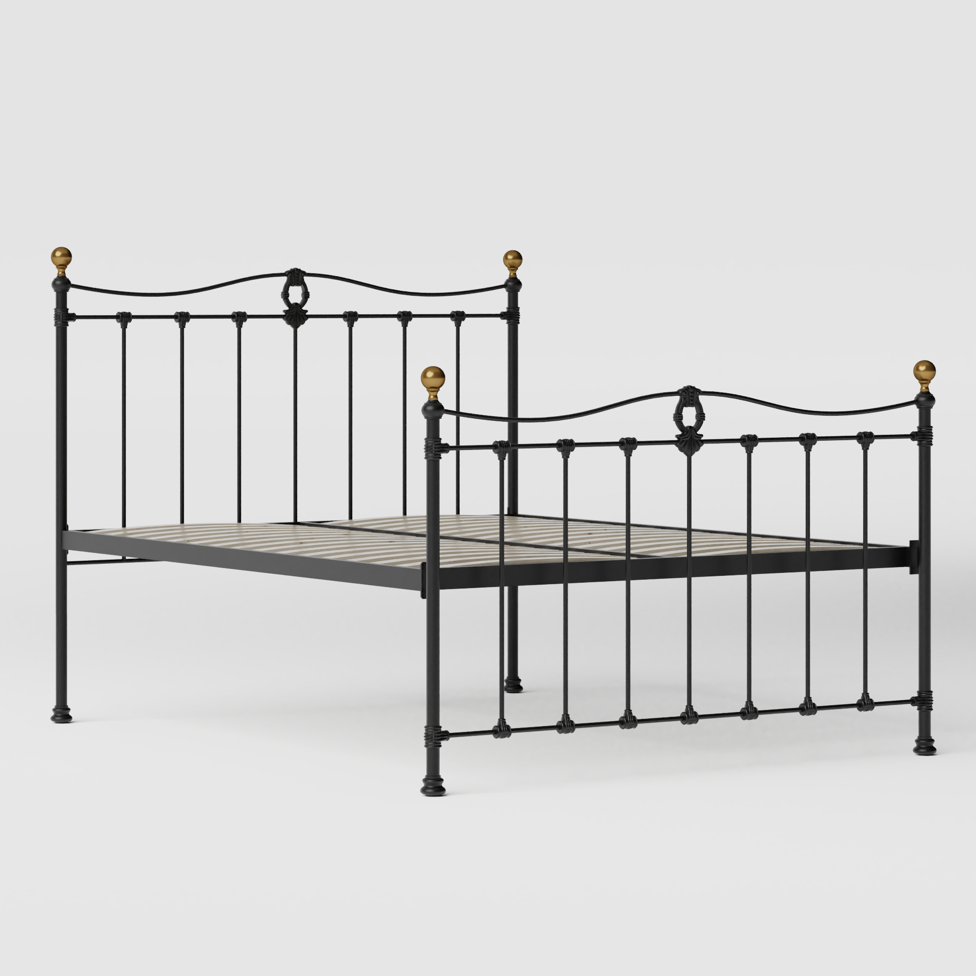 Tulsk iron/metal bed in black