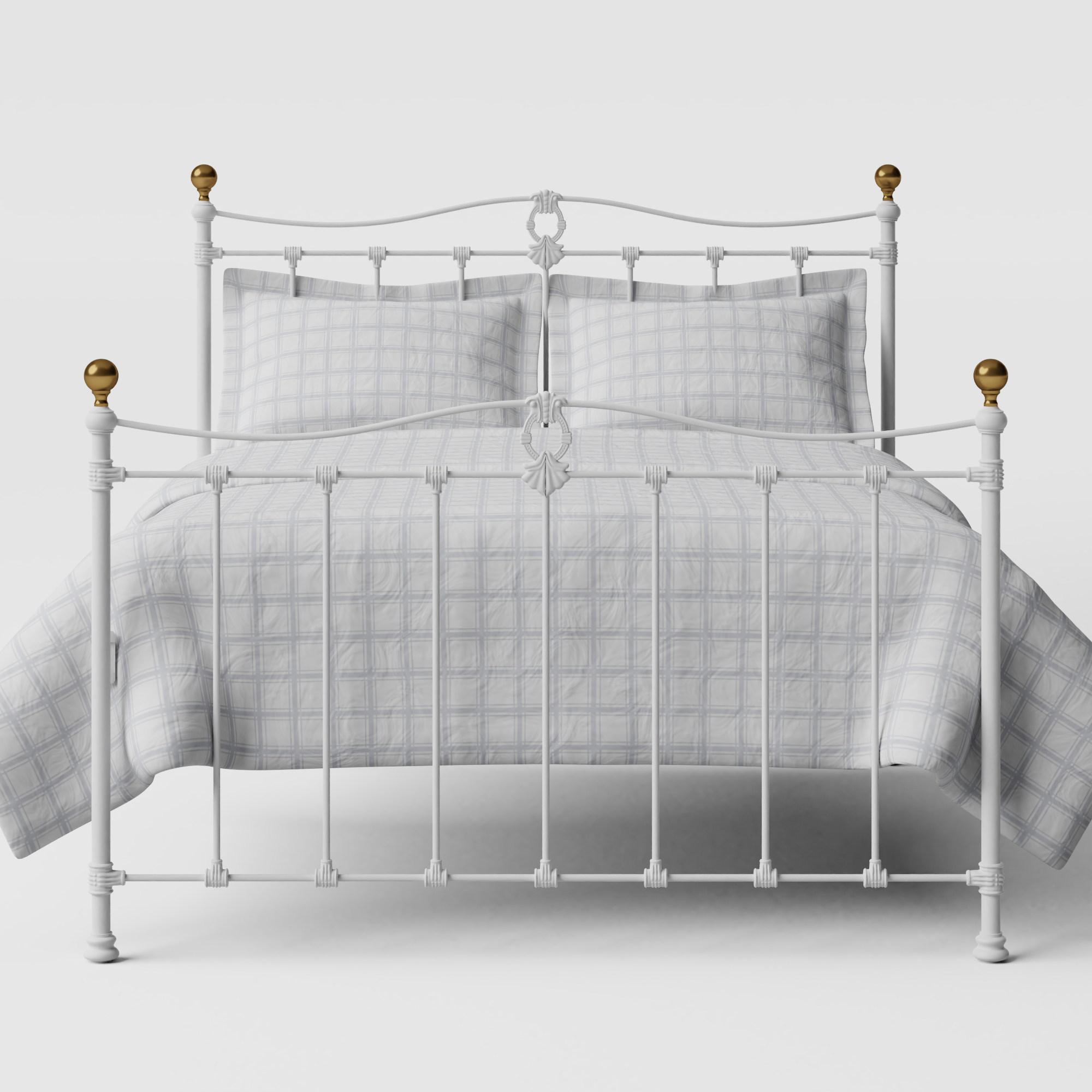 Tulsk iron/metal bed in white