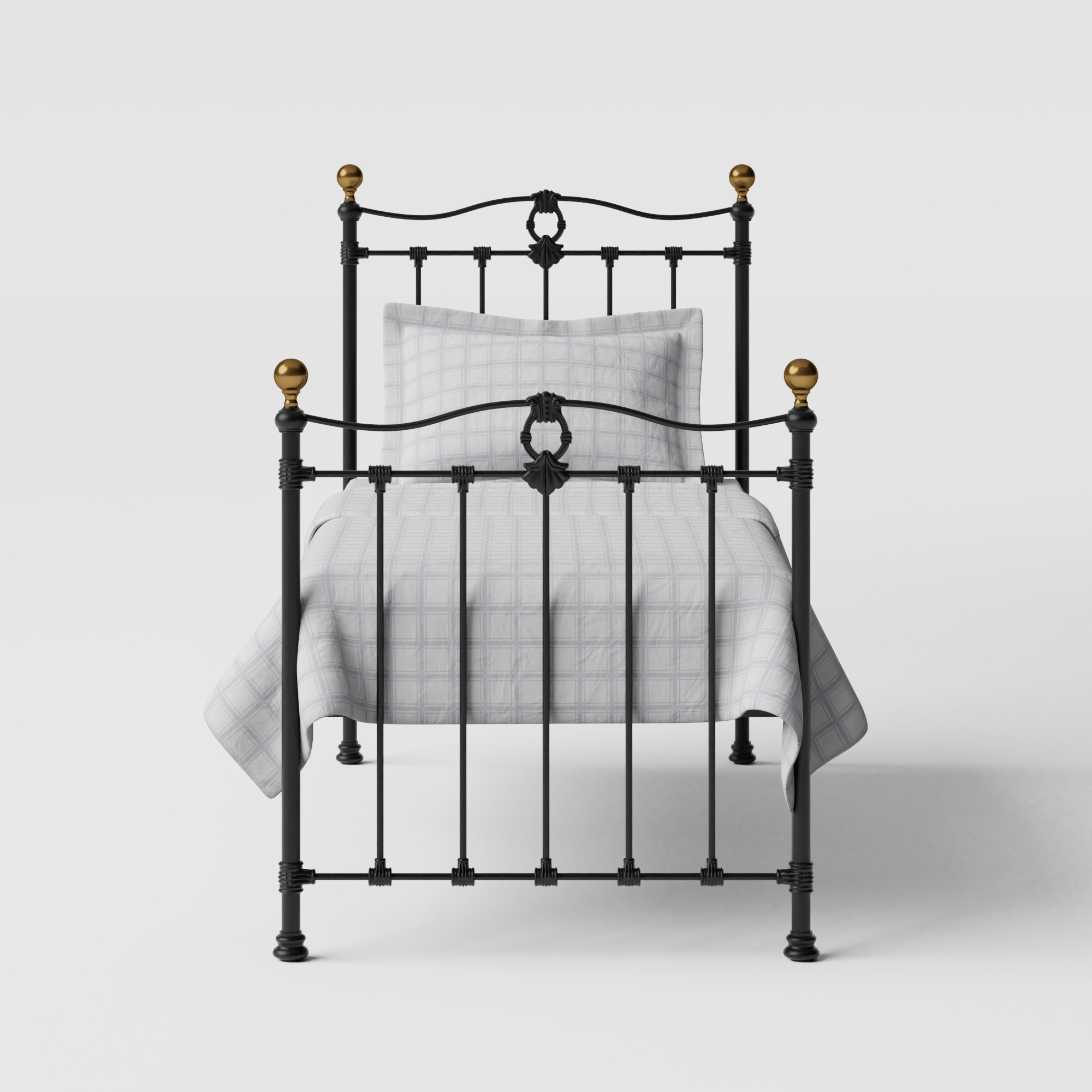 Tulsk iron/metal single bed in black