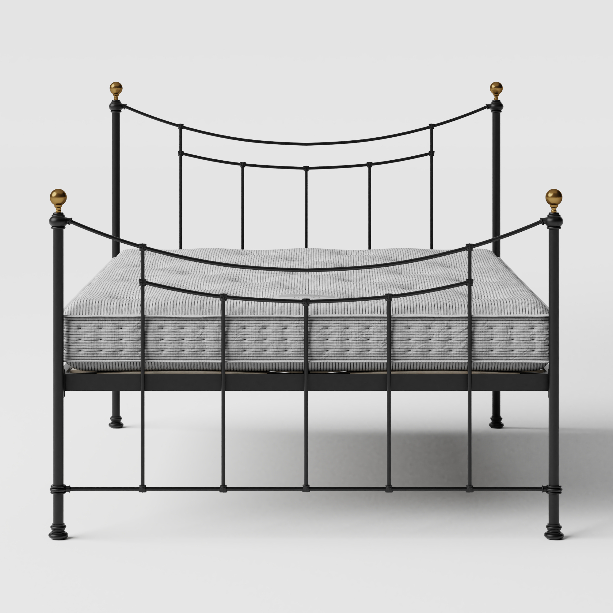 Virginia iron/metal bed in black with Juno mattress