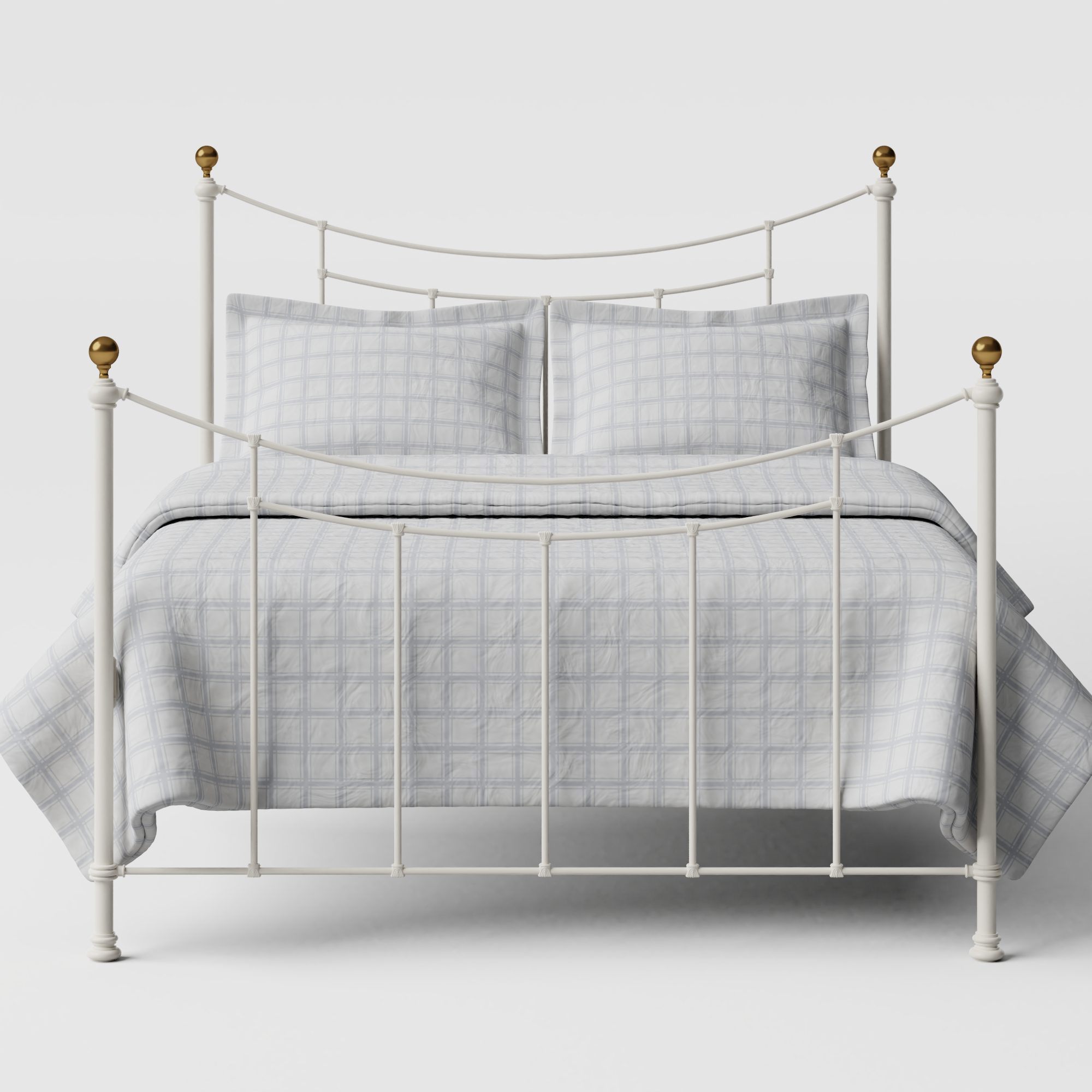Virginia iron/metal bed in ivory