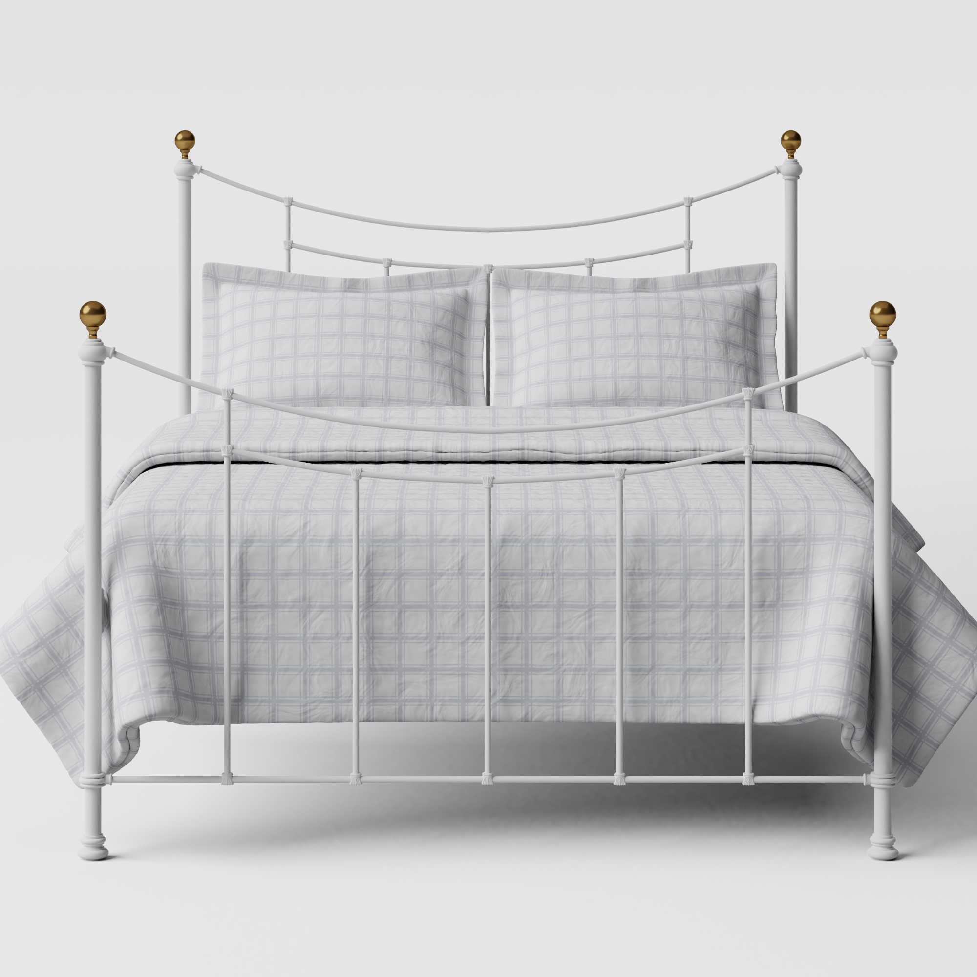 Virginia iron/metal bed in white