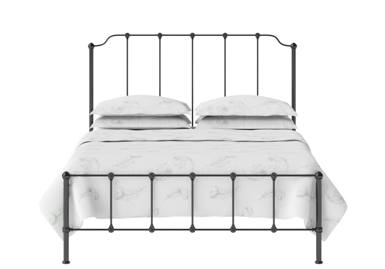 Julia Iron/Metal Bed in Satin Black