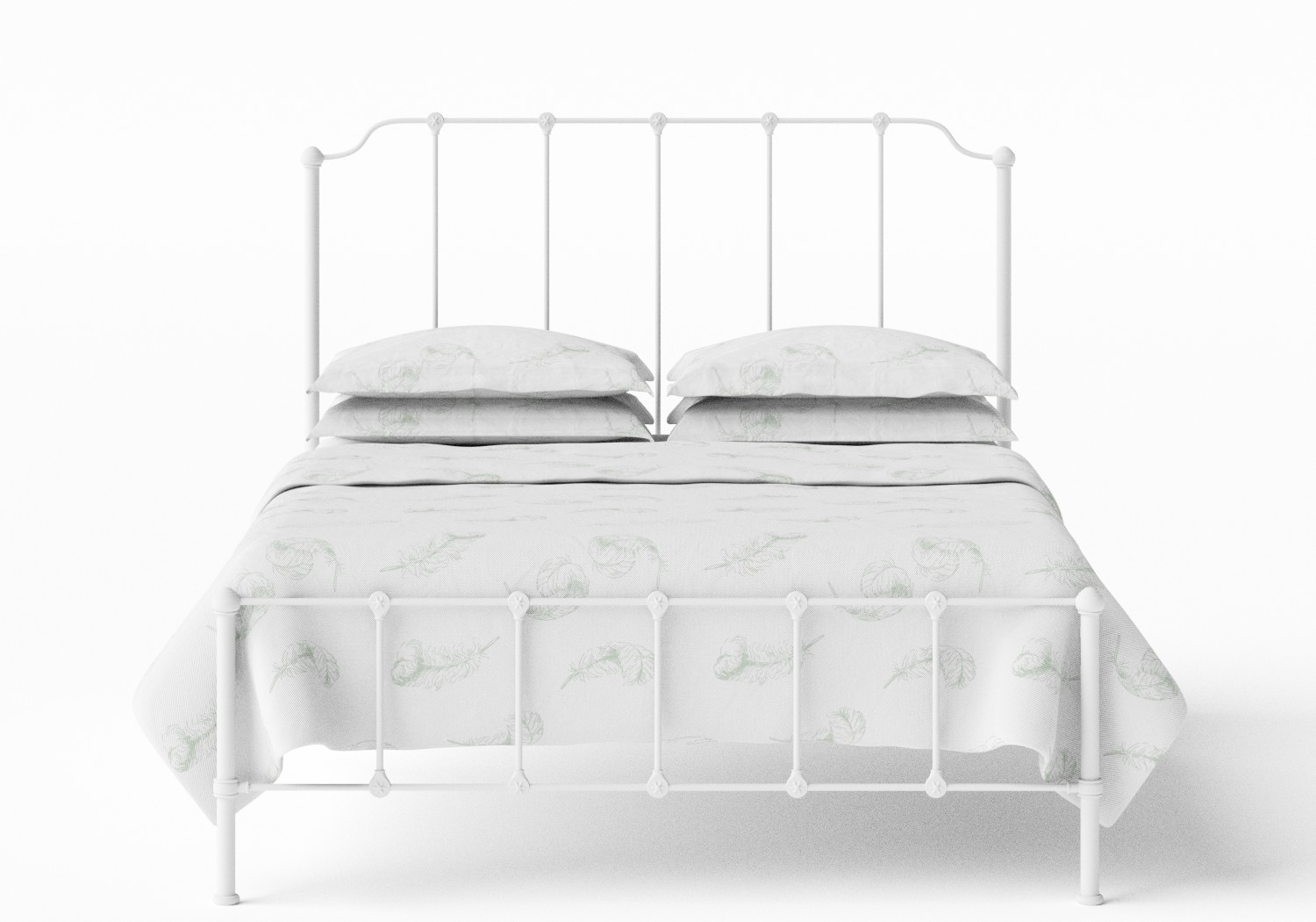 Julia Iron/Metal Bed in Satin White