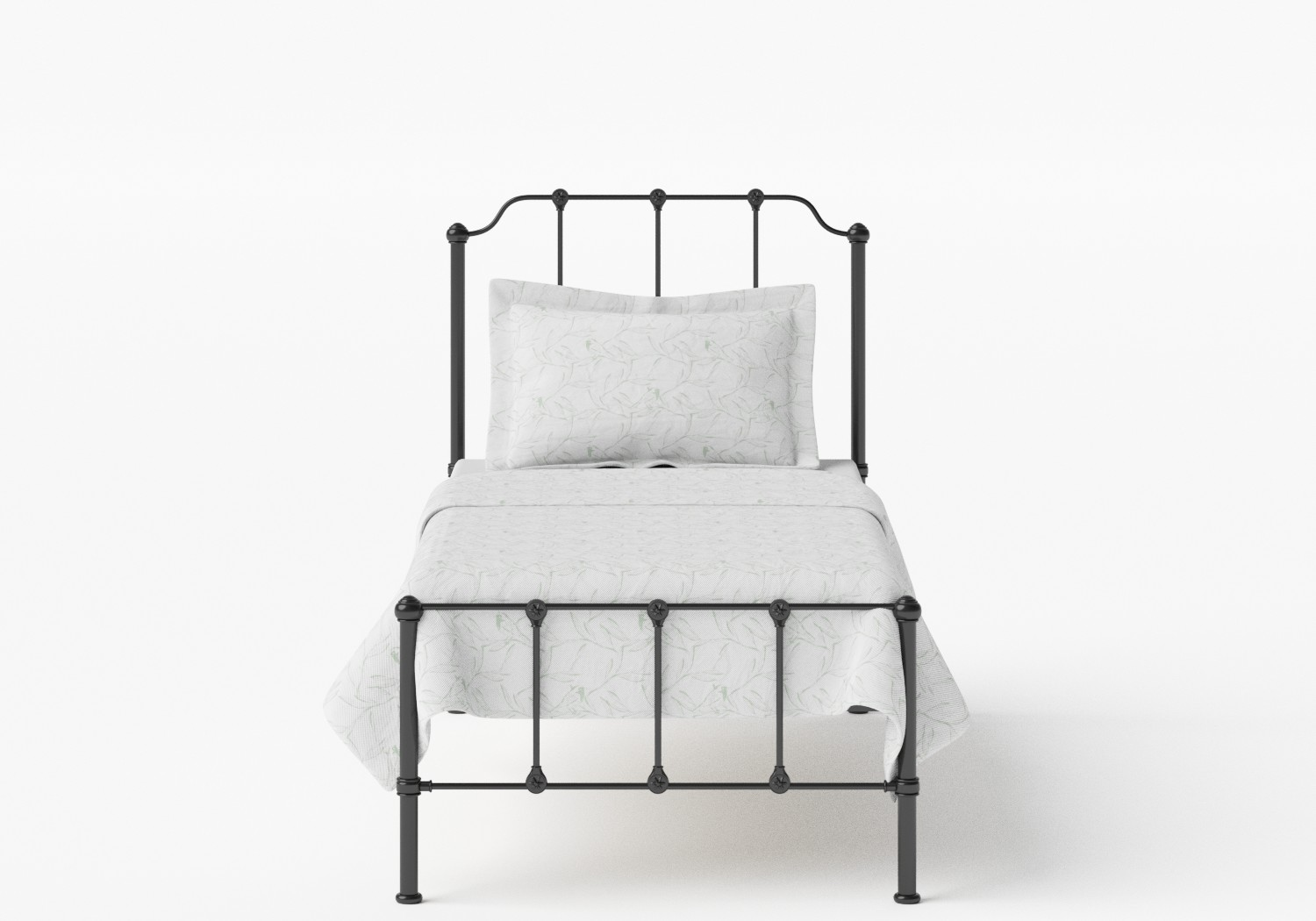 Julia Single Iron/Metal Bed in Satin Black