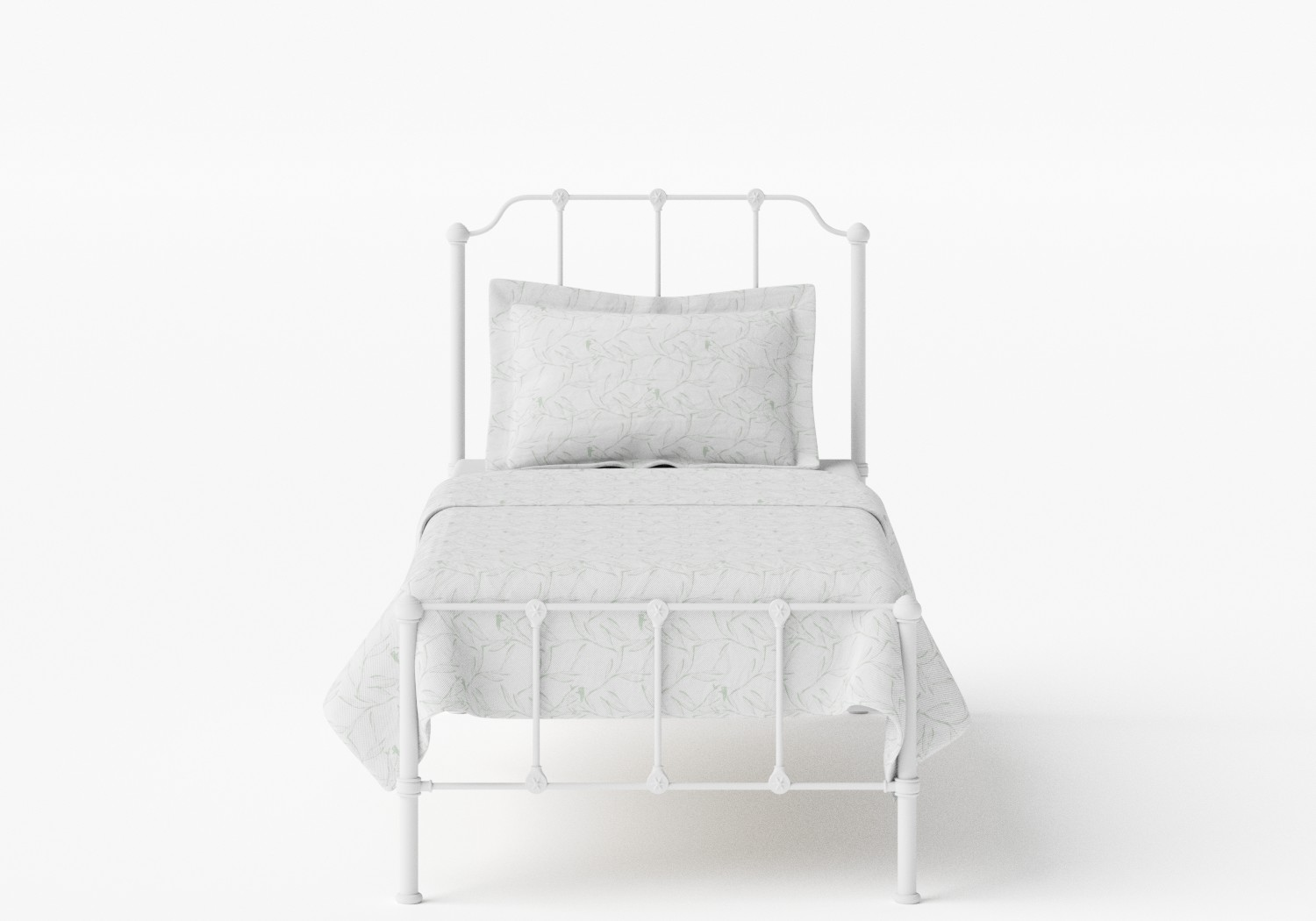Julia Single Iron/Metal Bed in Satin White