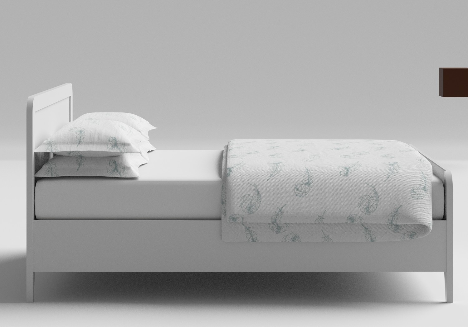 Keats Wood Bed in White