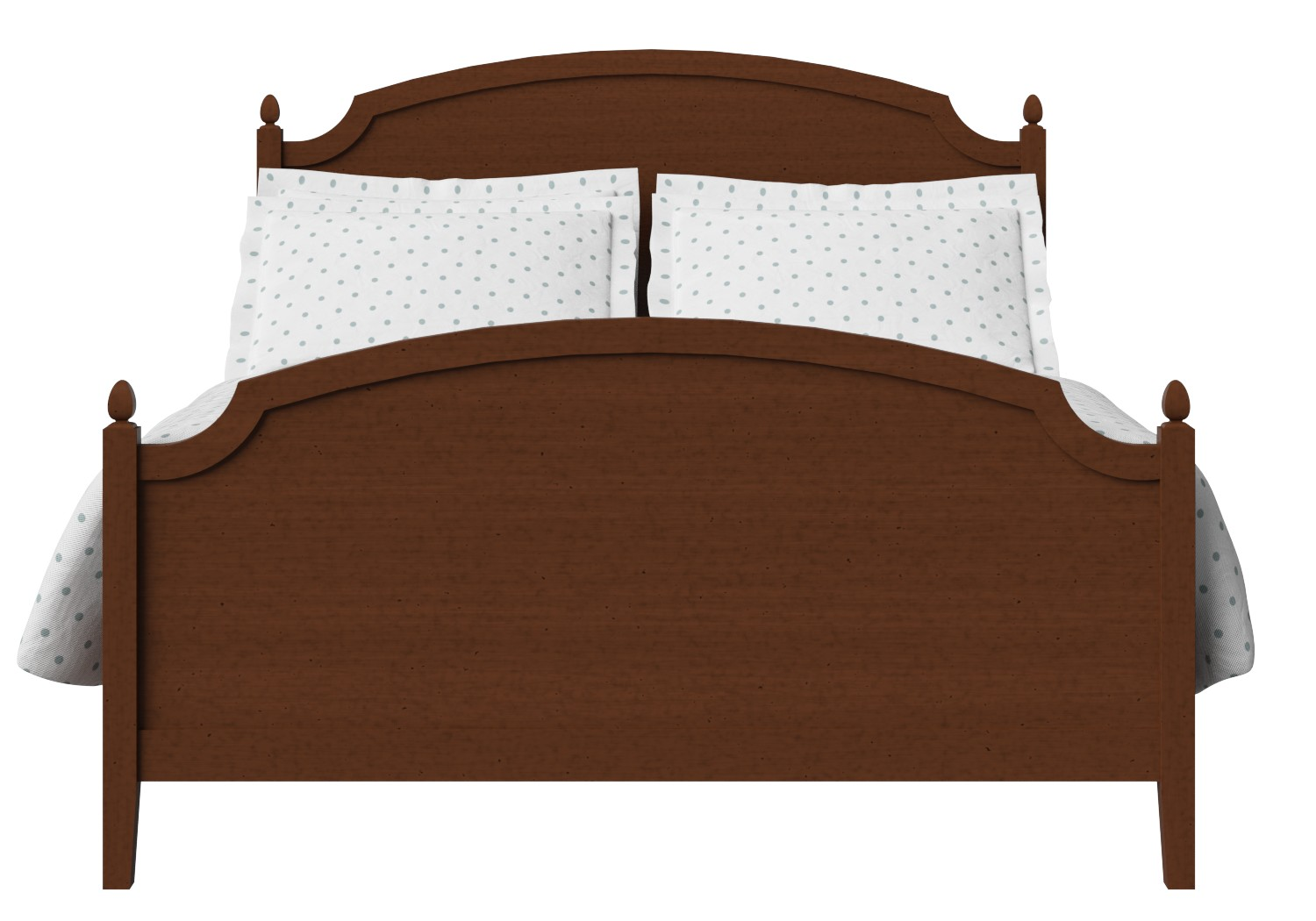 Kipling Wood Bed in Dark Cherry