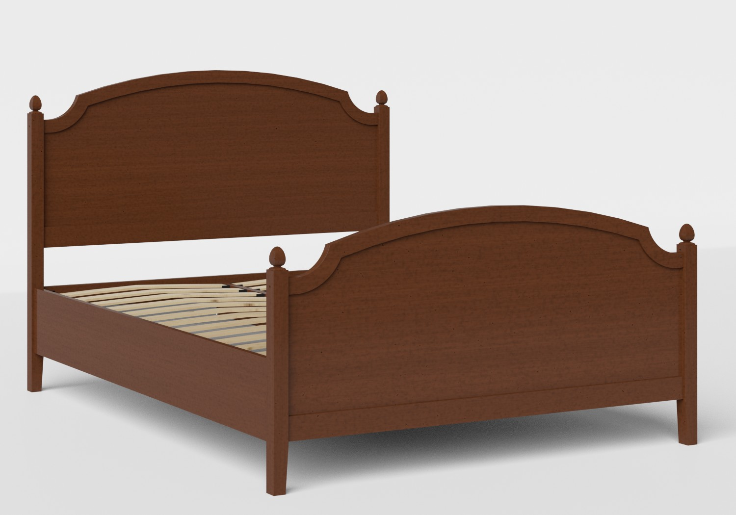 Kipling Wood Bed in Dark Cherry shown with slatted frame