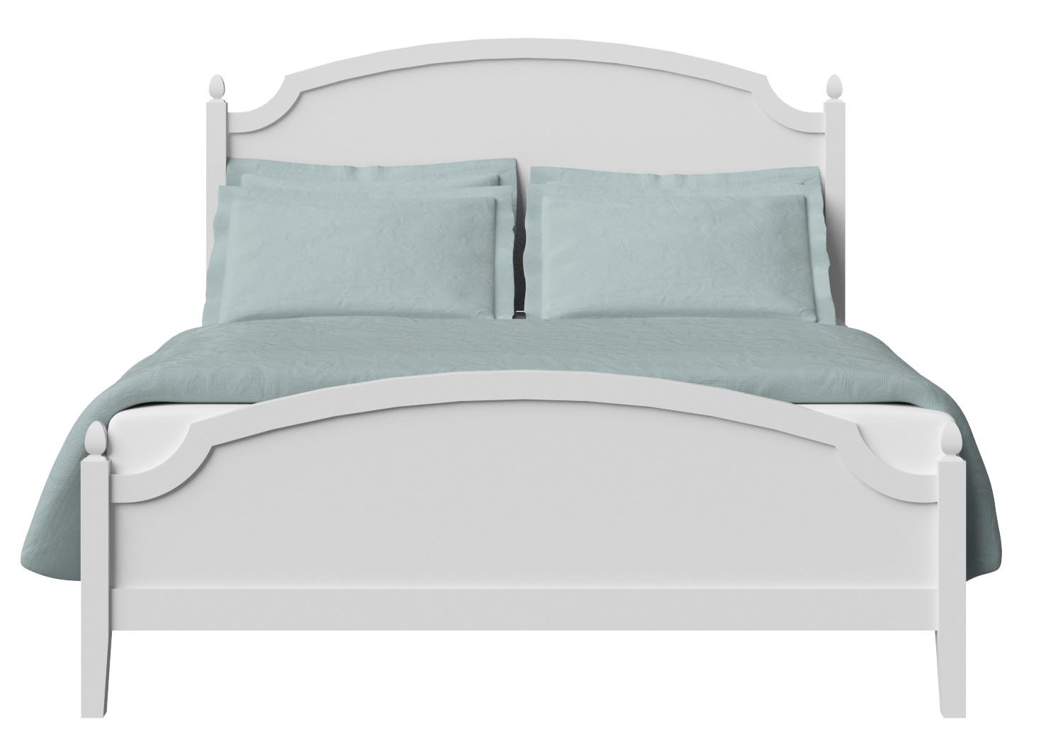 Kipling Low Footend Wood Bed in White