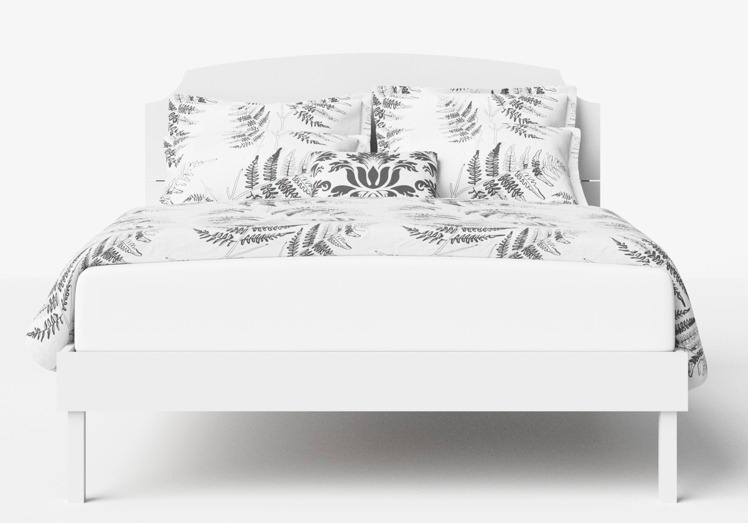 Kobe Wood Bed in White