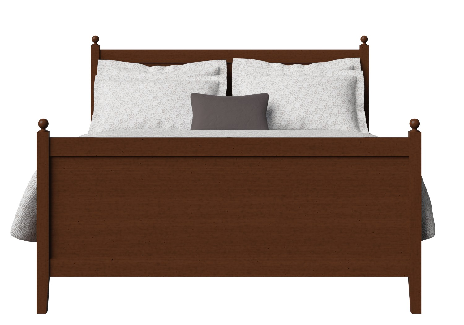 Marbella Wood Bed in Dark Cherry