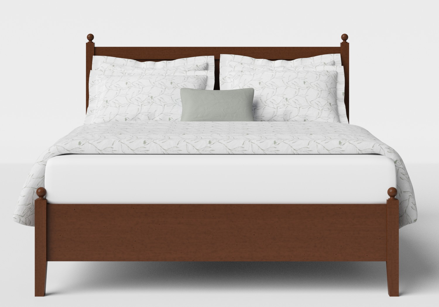 Marbella Low Footend Wood Bed in Dark Cherry
