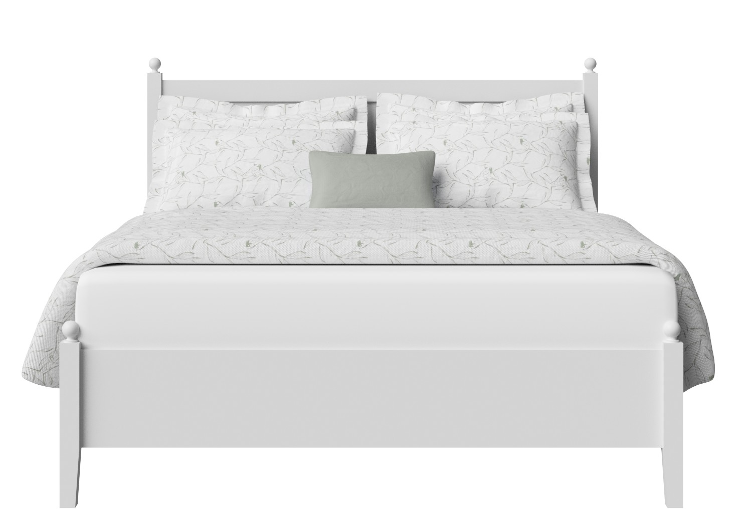 Marbella Low Footend Wood Bed in White