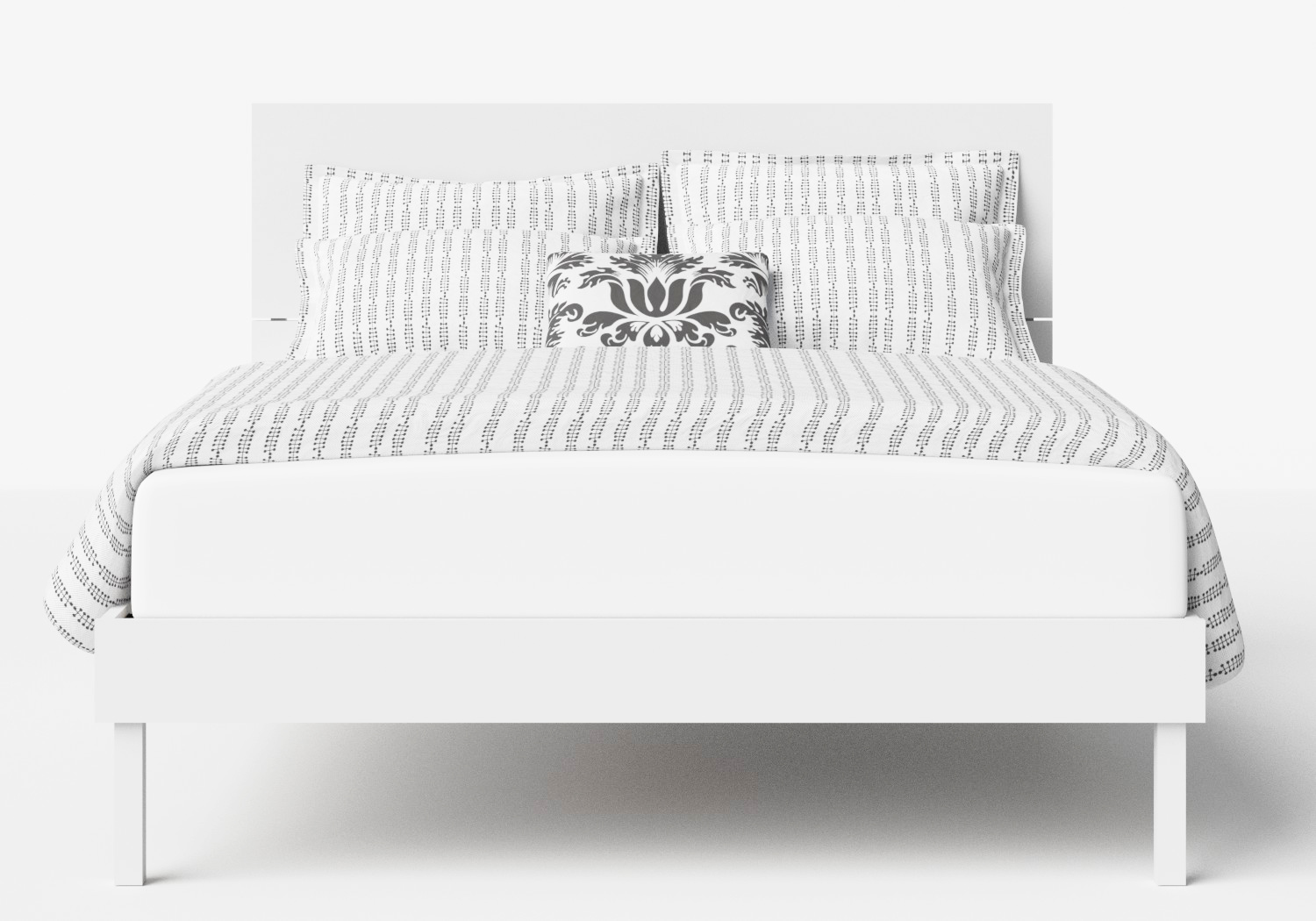 Misaki Wood Bed in White