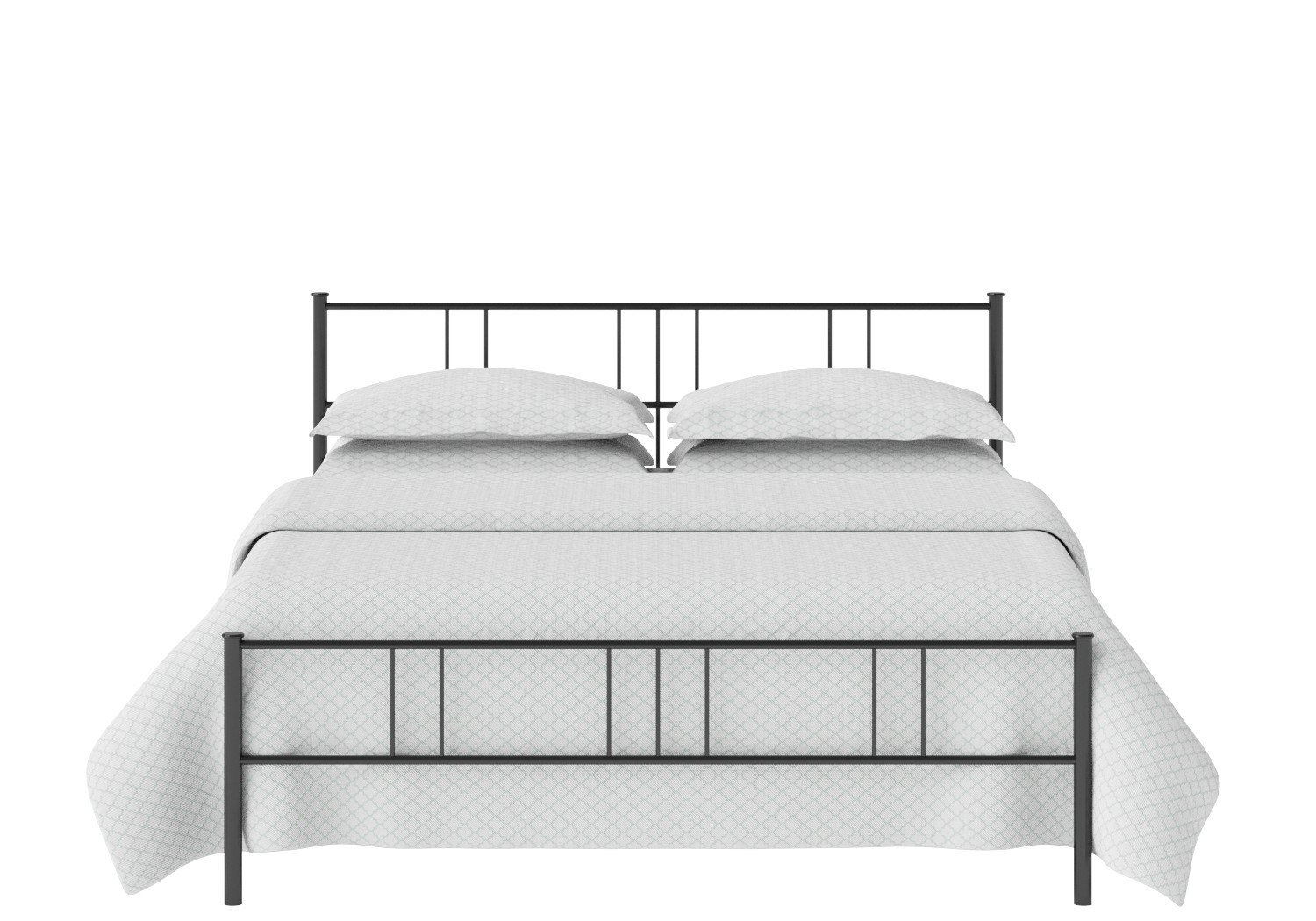 Mortlake Iron/Metal Bed in Satin Black