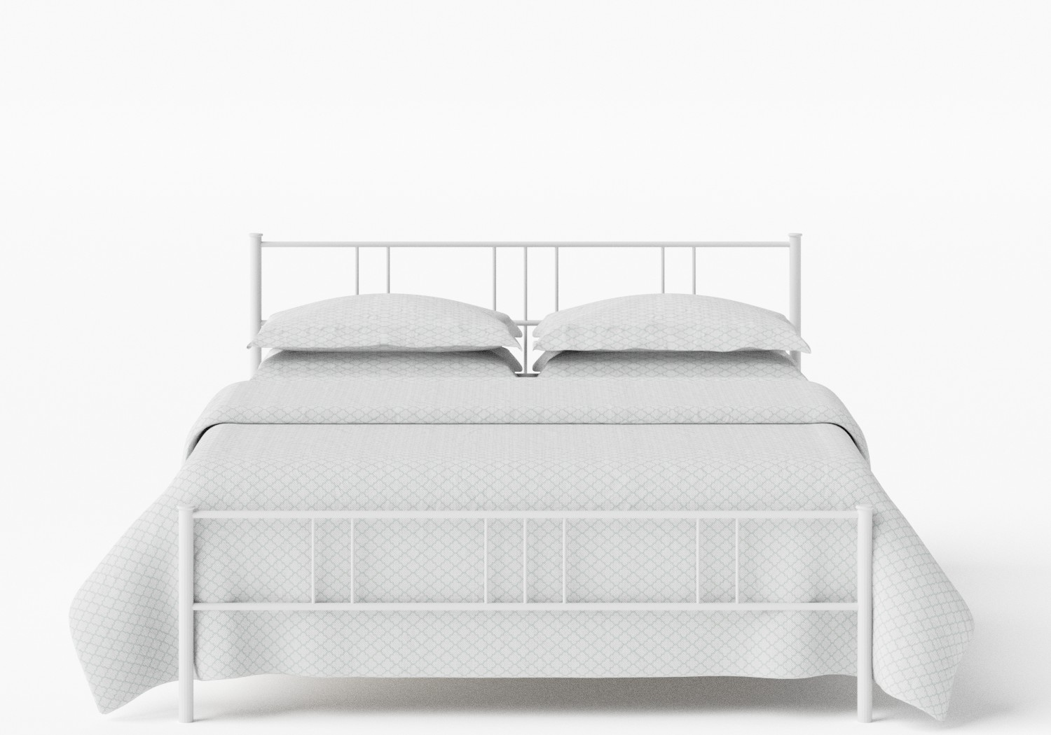 Mortlake Single Iron/Metal Bed in Satin White