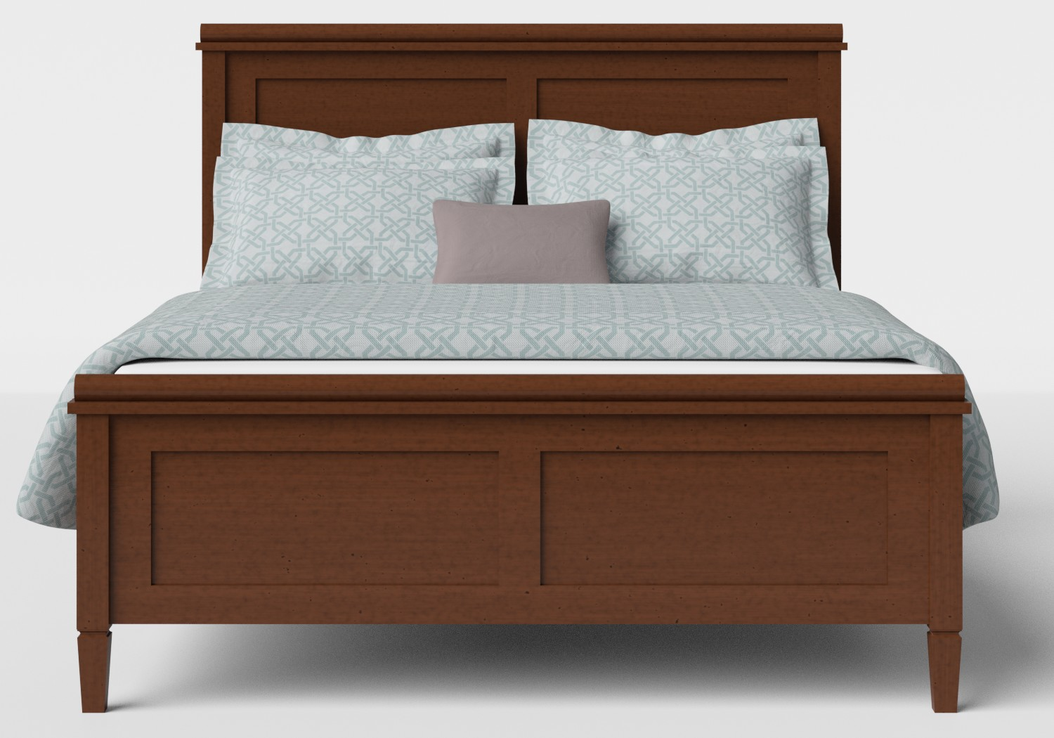 Nocturne Wood Bed in Dark Cherry